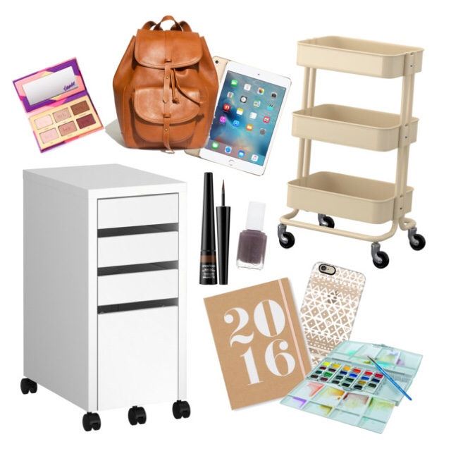 New Year Wish List    Currently in need of a filing cabinet because we are officially adults and need to organize some fairly important documents. I plan to look for this one on an upcoming trip to Ikea. I'm also wanting to phase out some of our storage furniture that screams cheap college kid like a plastic set of drawers that's currently organizing half of my art stuff. I'd like to get a second cart like this one and sort through the rest.     I played with a new iPad yesterday and it was so cool but way too big! I can't decide if I want to get a Mini or just the Air but an iPad is on my must upgrade list for this year. Birthday, anyone? Along the same lines, a cute backpack full of MochiThings and a new iPhone case would be perfect to hold it during our upcoming trip to NEW YORK CITY this summer! Speaking of upgrades, I also need some new watercolors but I can't decide if I want a bigger pan set or just tubes to make my own. Looking for brighter colors this year!    Makeup. I have too much but I'm always on the search for something different. I can across a bottle at Sephora that looked like liquid liner but it was actually brow powder that comes out in a fine line. Can you say NEED?!     I'm sure this list will change throughout the year but if I don't write down what I want then I'll never make a goal to save for it!