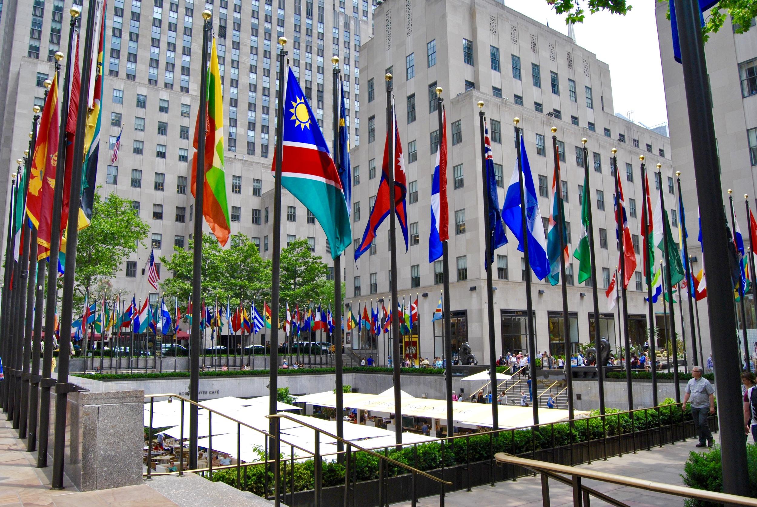 Rockefeller Plaza Flags