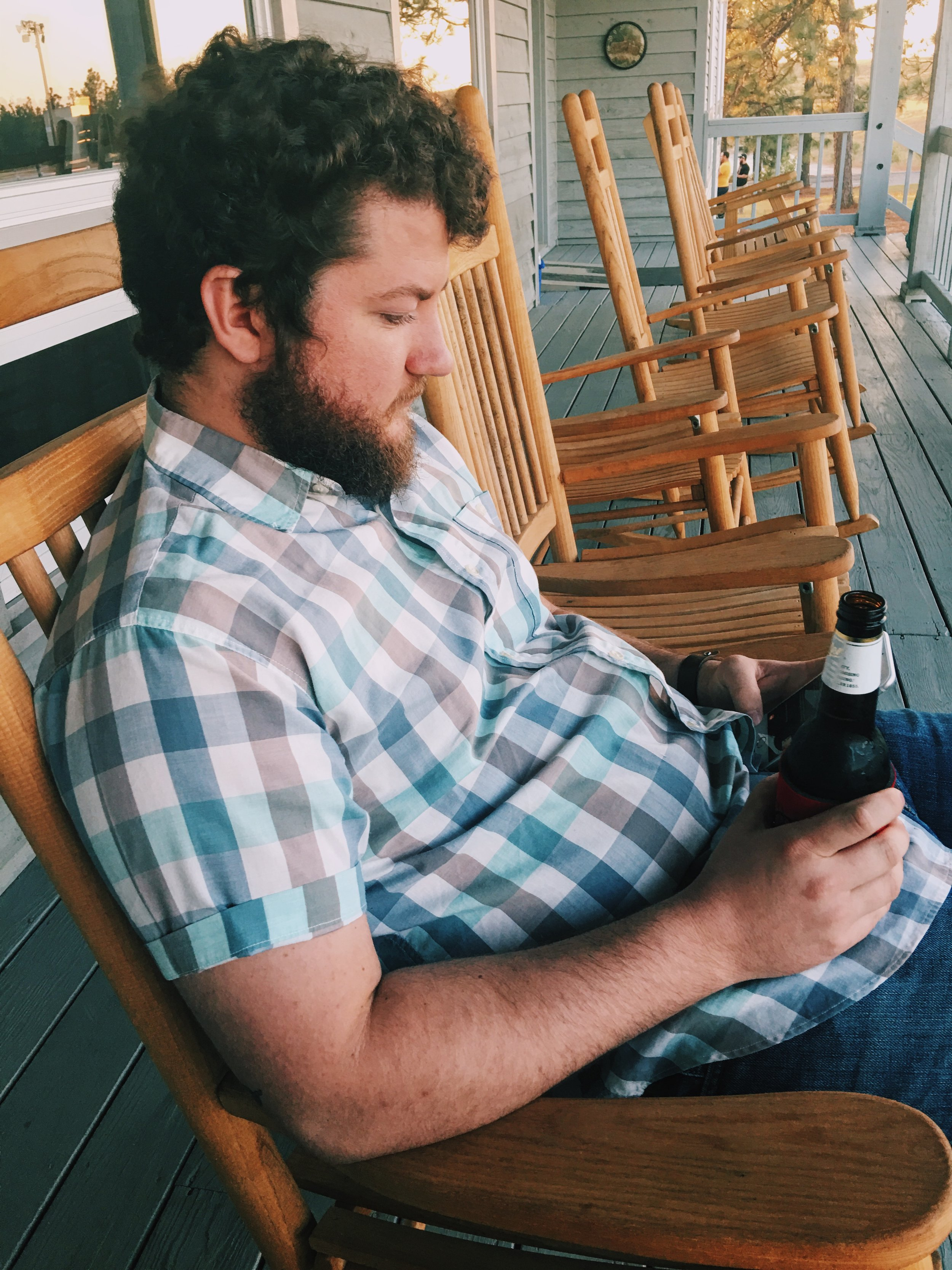 Cheap beer and porch sittin' at Pinetucky.