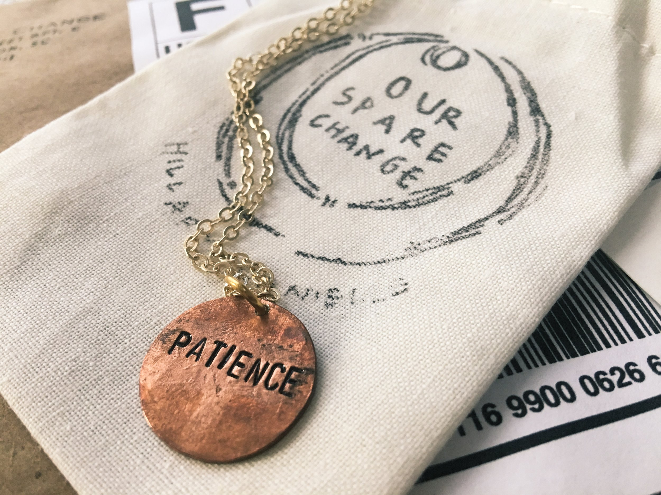 Our Spare Change Salvaged Coin Long Necklace
