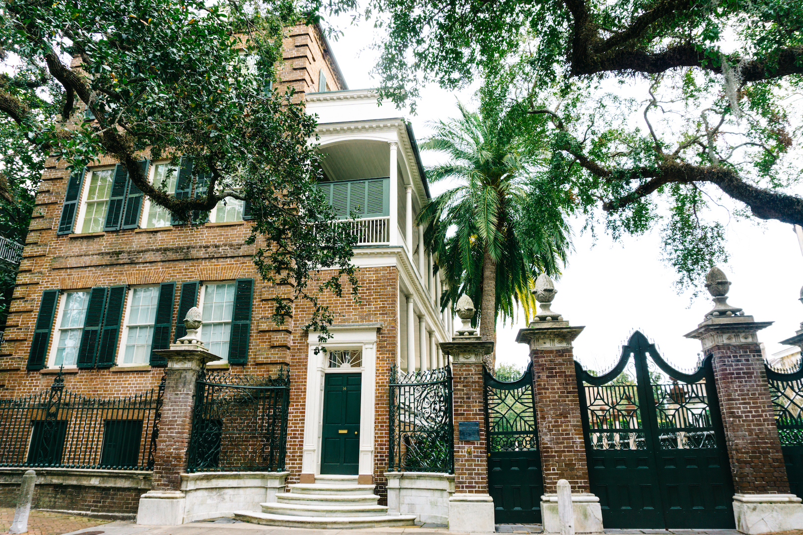Pineapple Gate House in Charleston SC