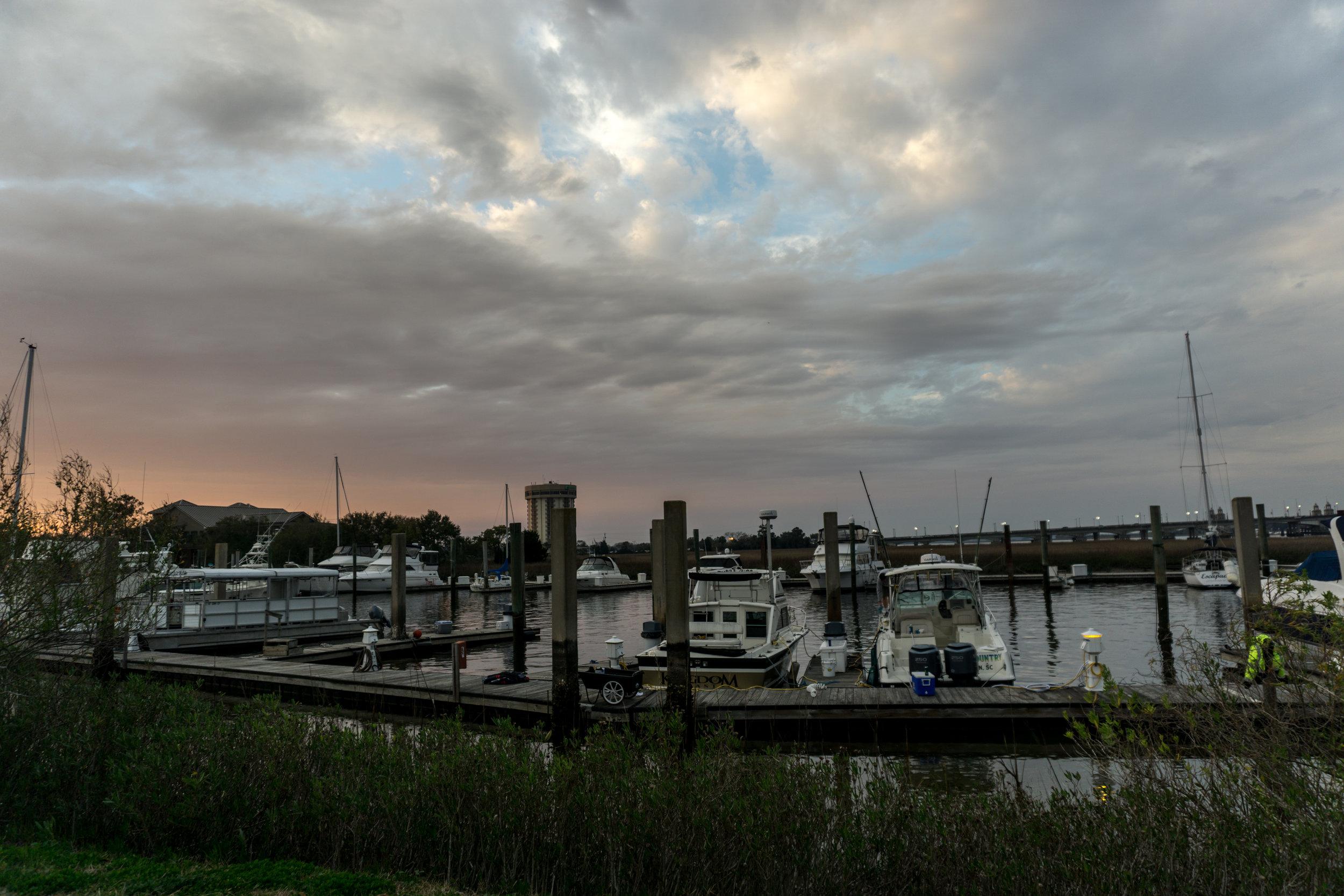 Sunset on Ashley River Charleston