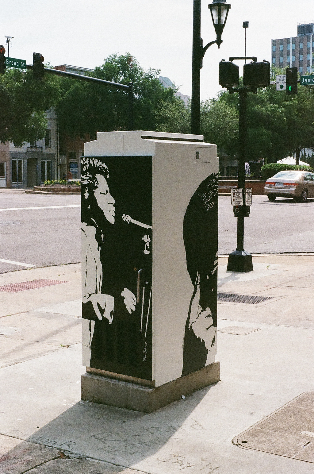 James Brown Art the Box in Downtown Augusta Georgia