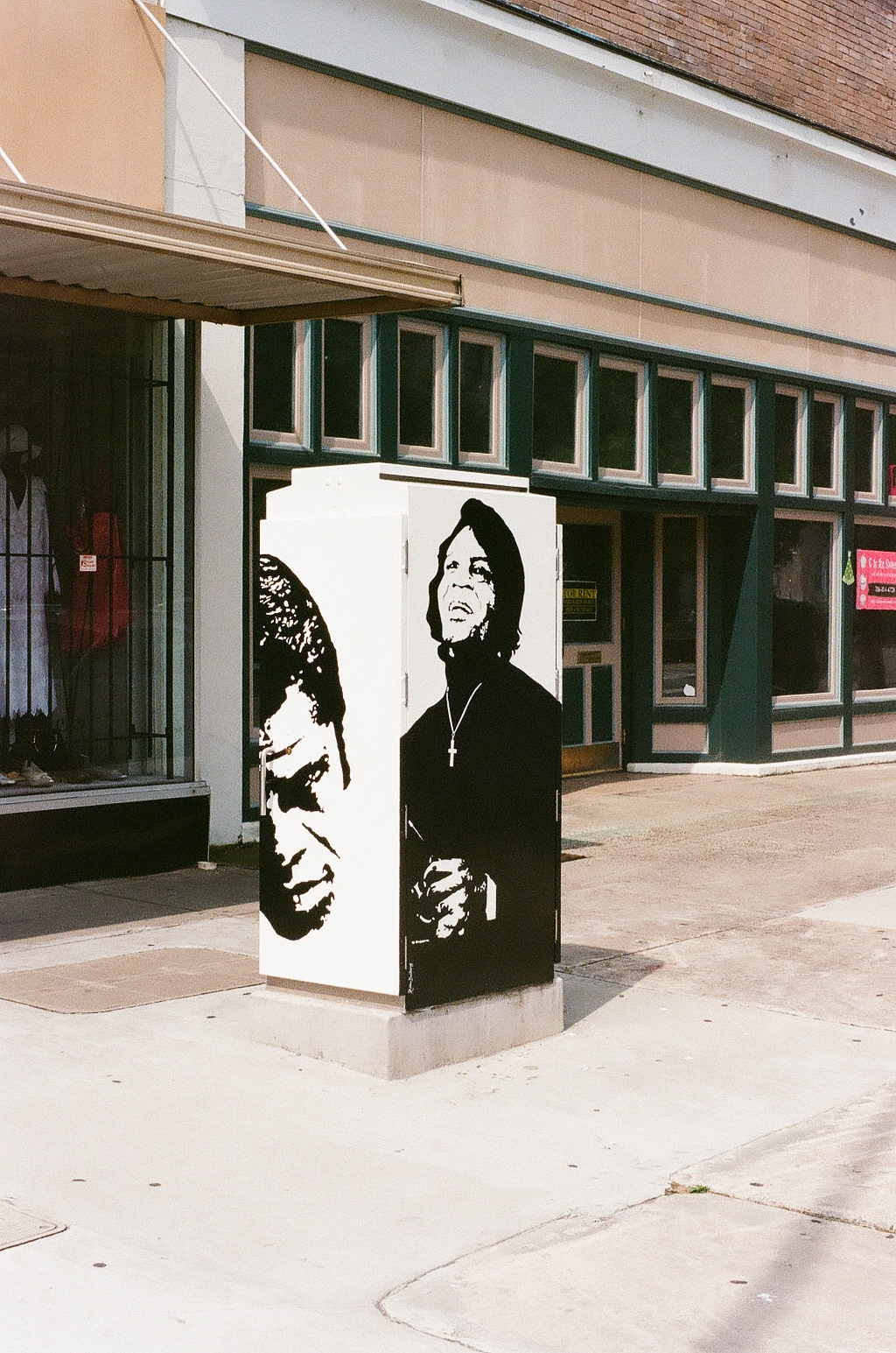 James Brown Art the Box on Broad Street in Augusta Georgia
