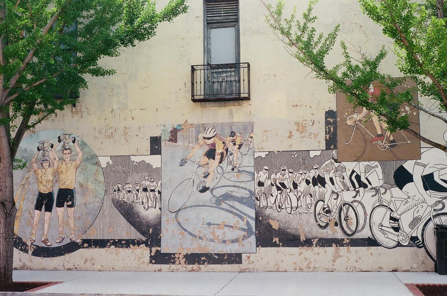 Bike Mural in Downtown Augusta Georgia