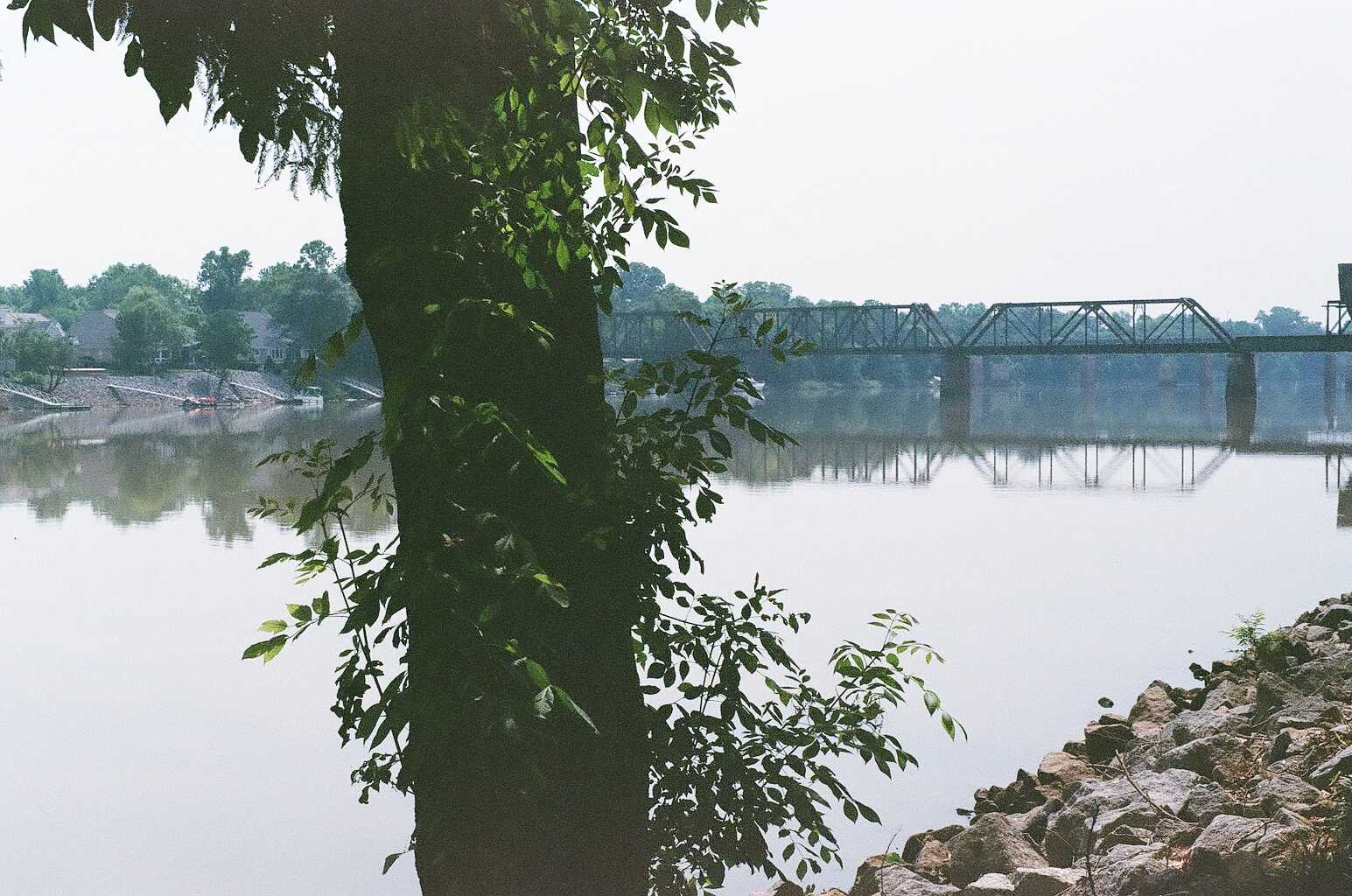 Railroad Bridge over the Savannah River in Augusta Georgia