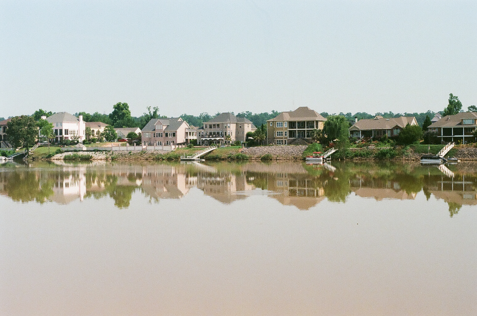 Houses on the Savannah River in North Augusta South Carolina