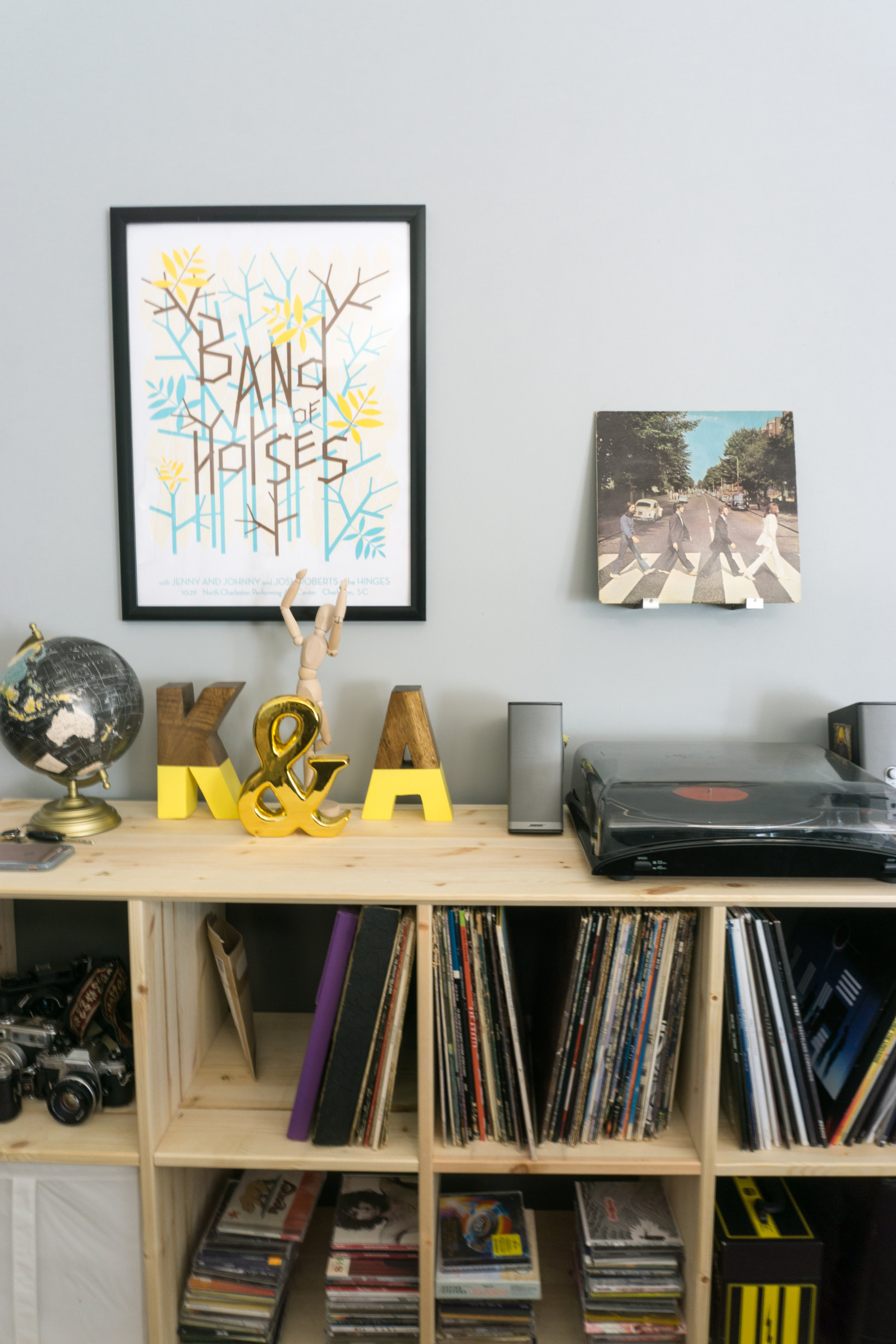 Record Collection with Ikea organization