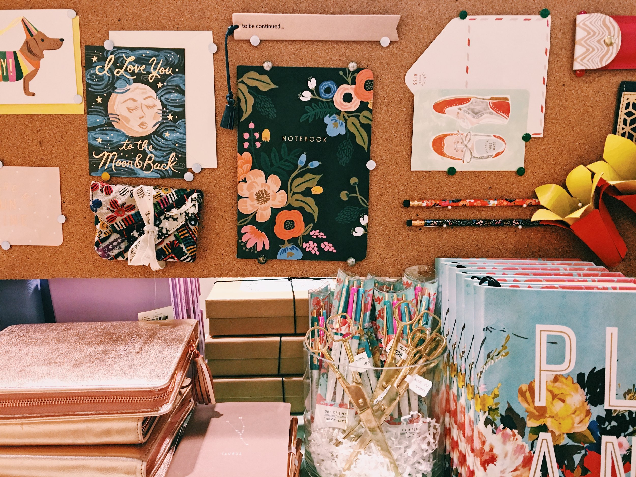 Anthropologie home office decor display