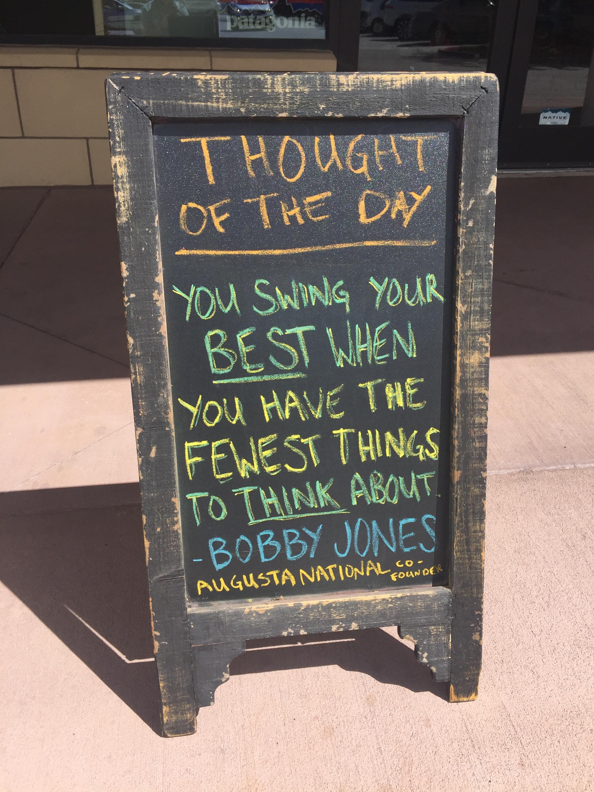 Bobby Jones golf swing quote