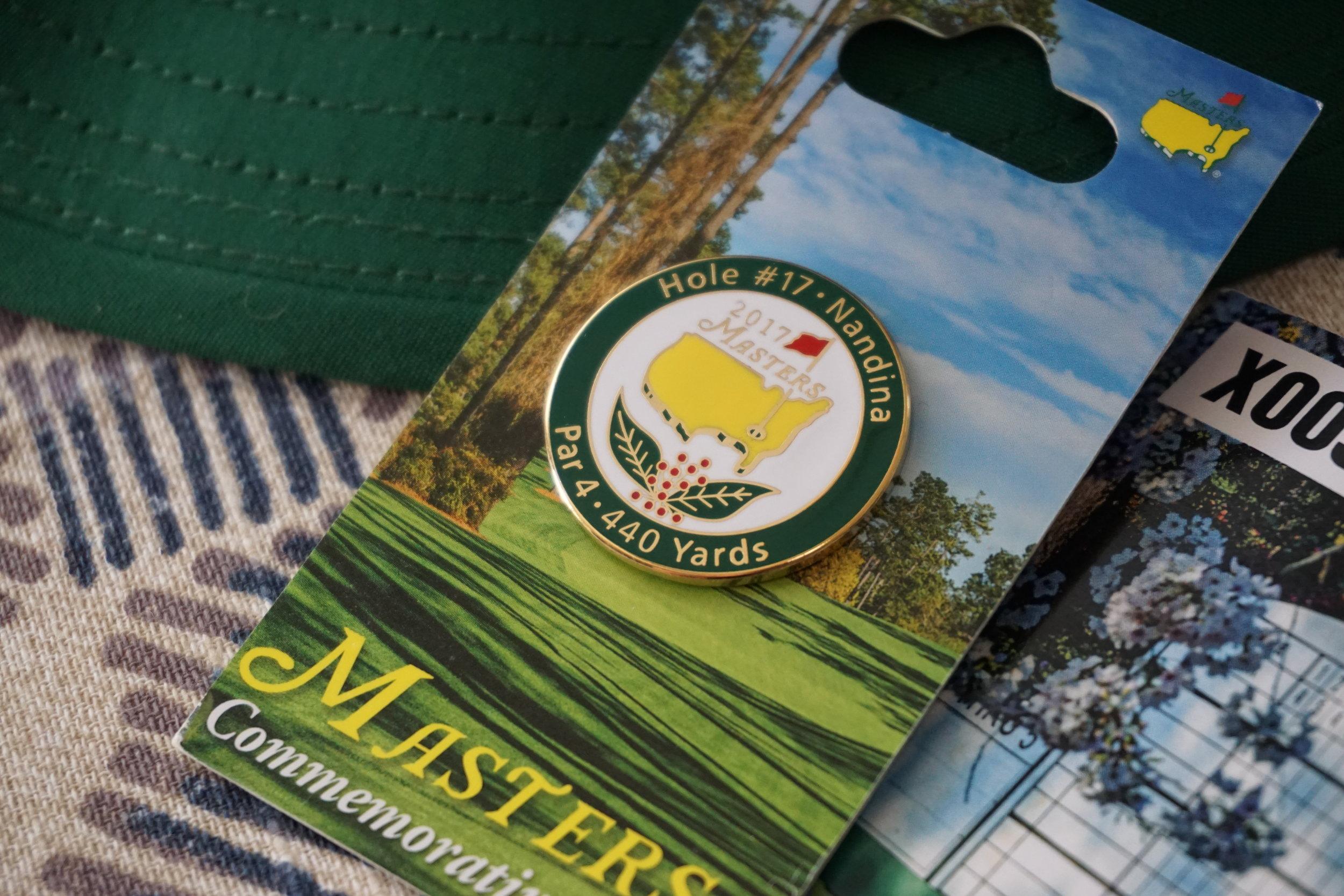 Masters 2017 pin