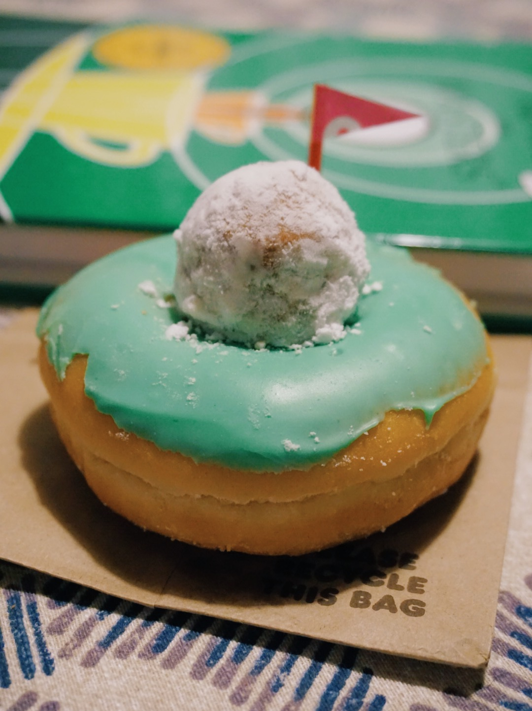 Hole in One Masters Donut from Dunkin Donuts