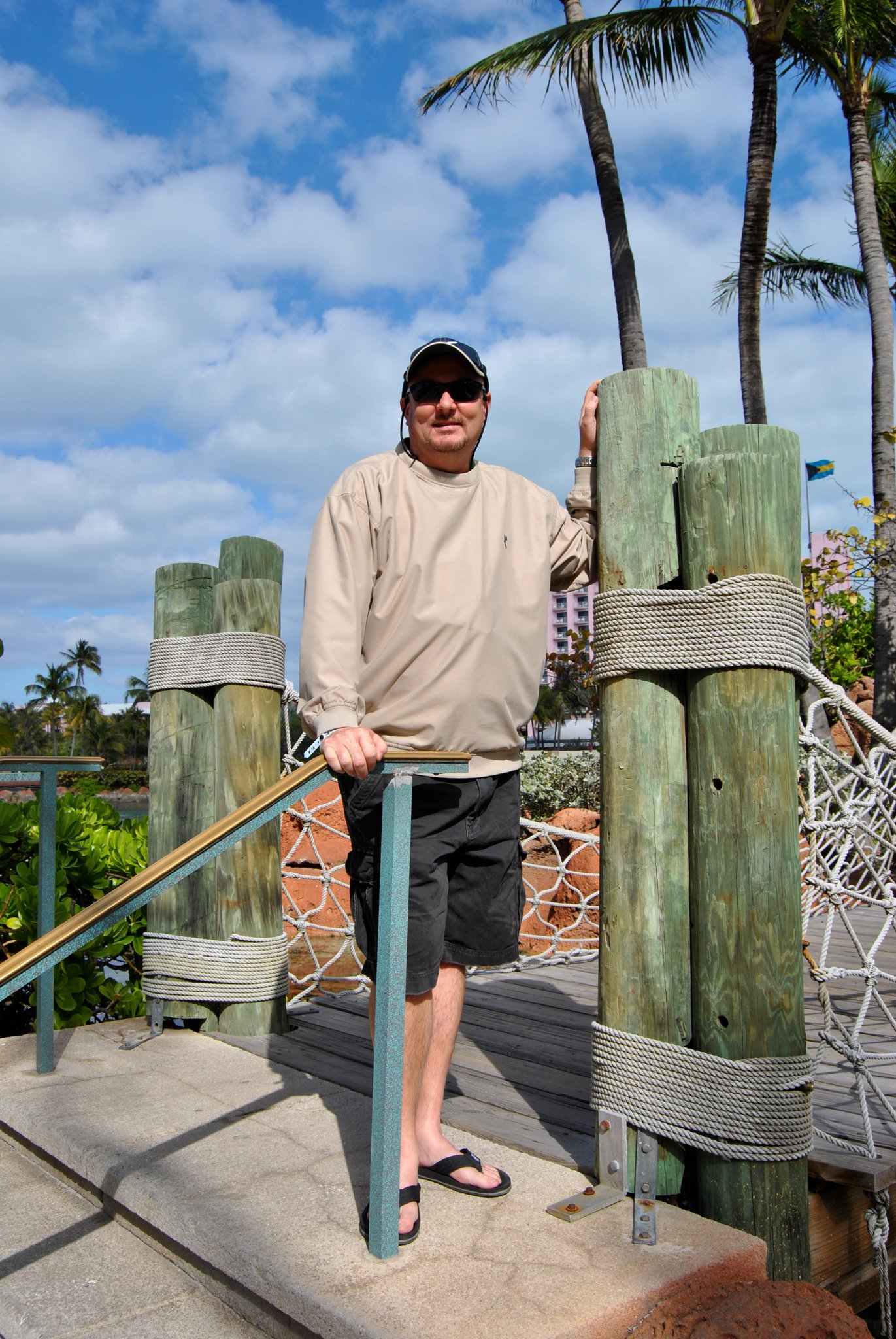 Dad in the Bahamas