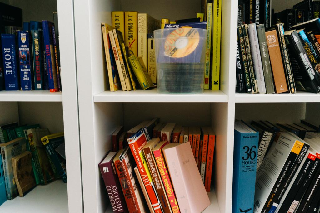 Kallax shelf with book storage