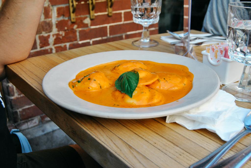 Ravioli at DeGenarro Little Italy NYC