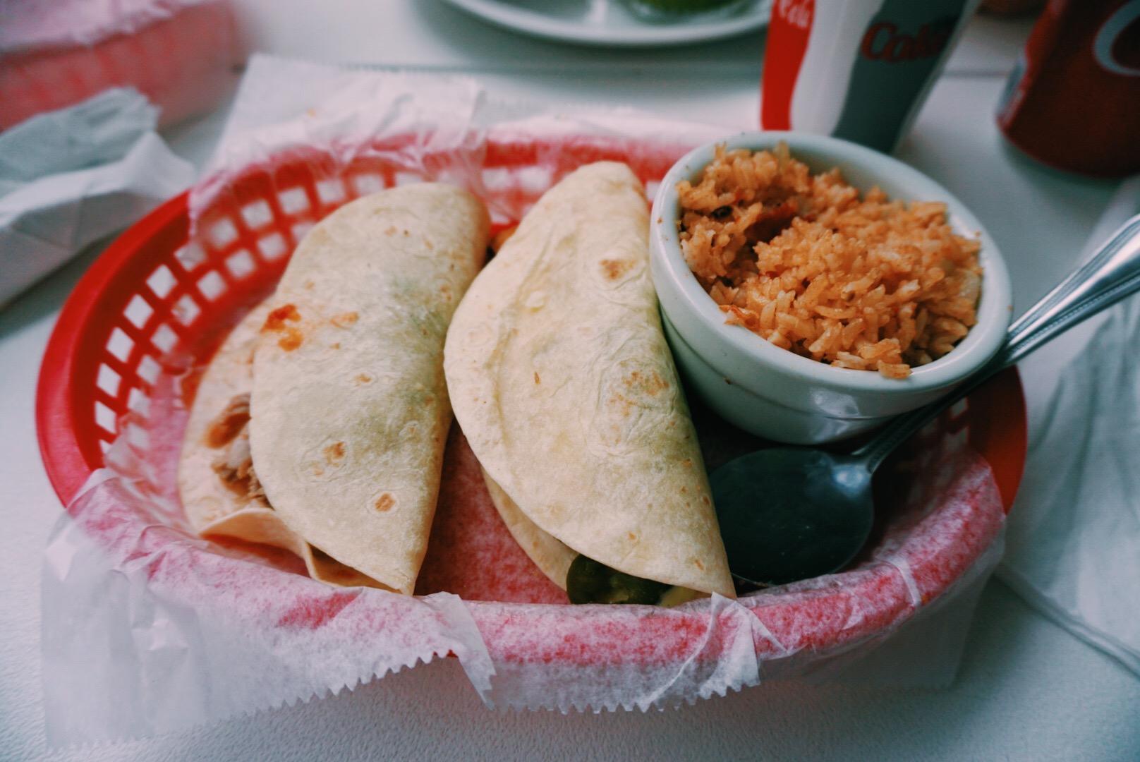 Tacos from Taquiera del Sol in Athens, GA