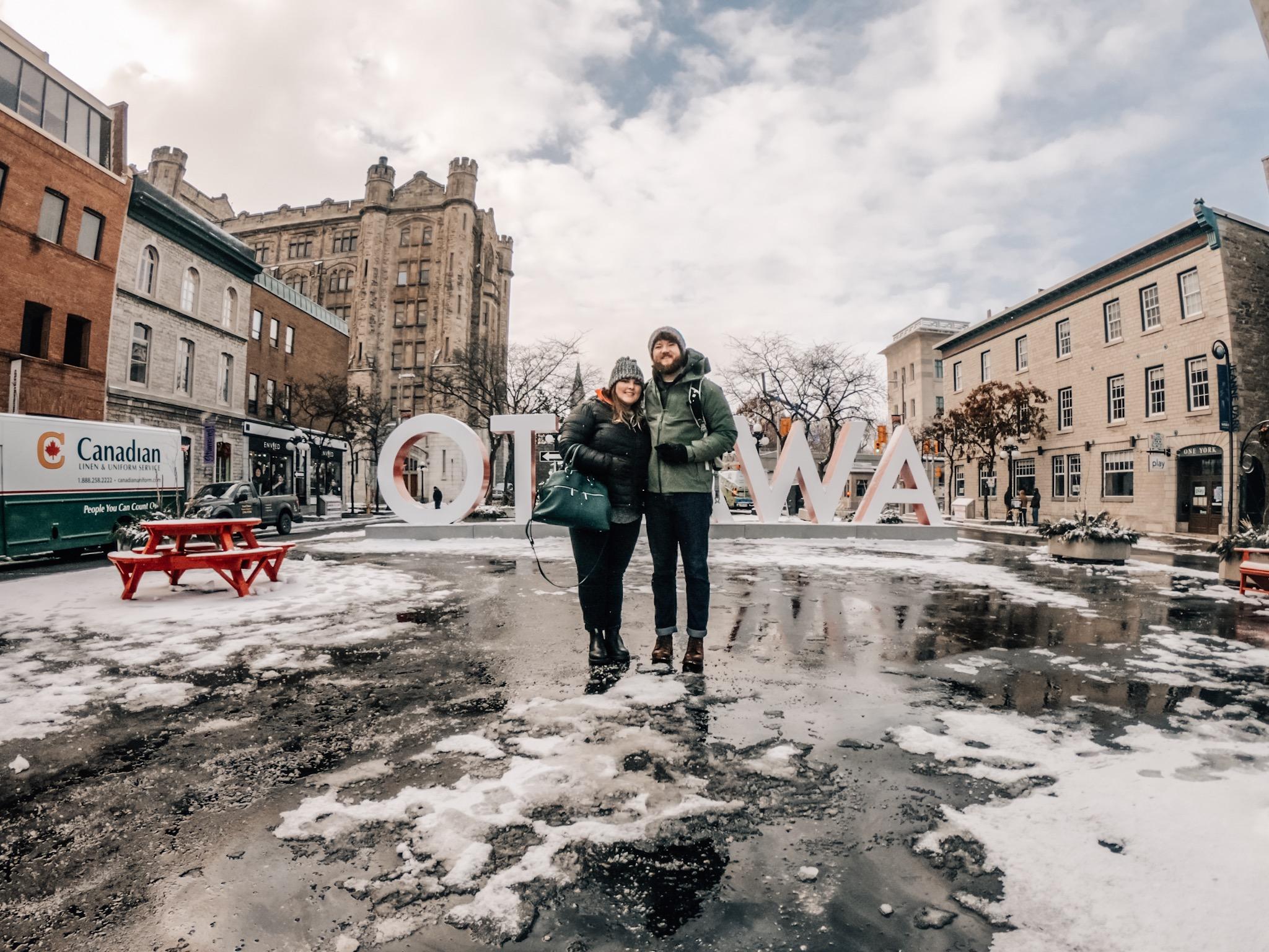 Ottawa sign at Byward Market