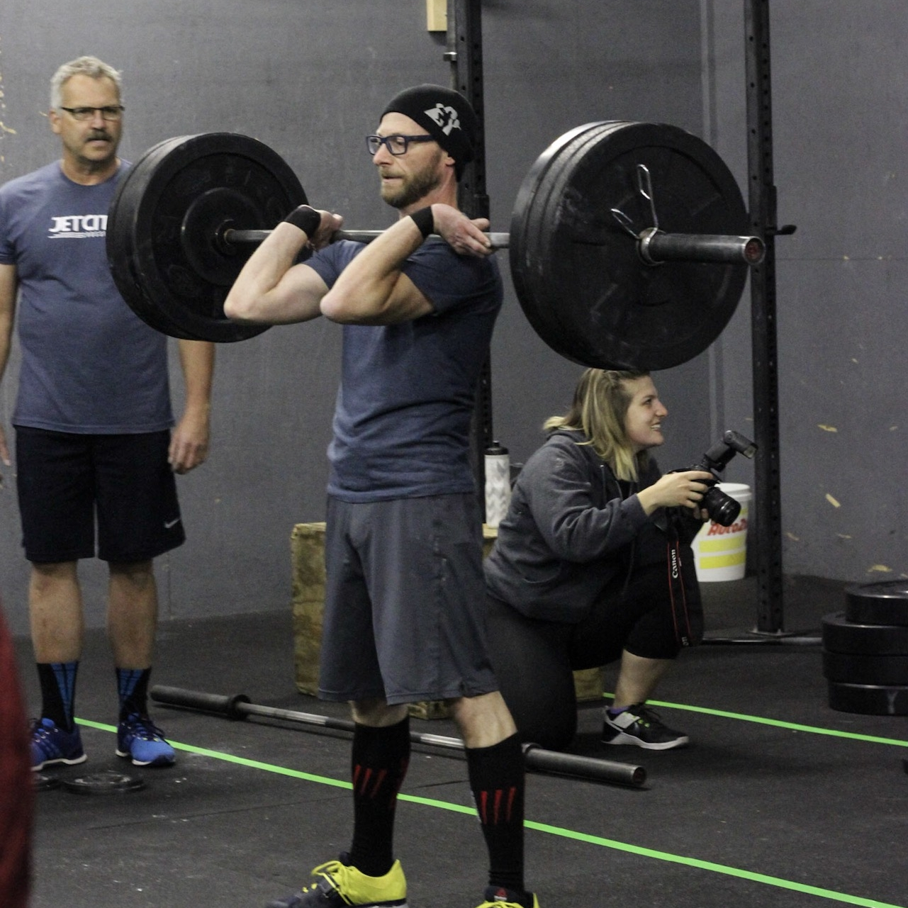 Coach Rich (and member Bob) competing in a 2016 CrossFit competition.