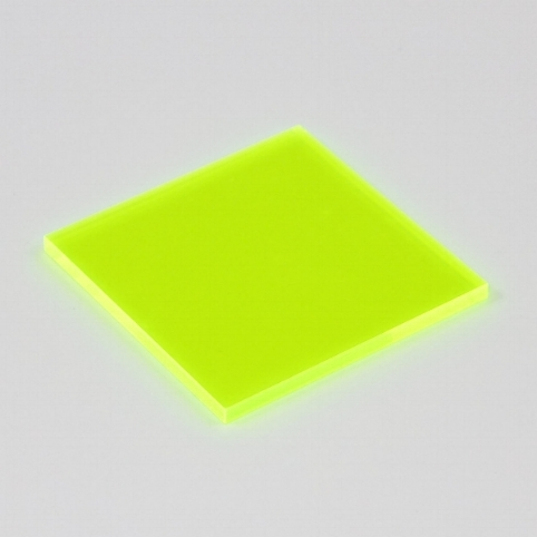 Yellow Fluorescent Acrylic (Translucent)