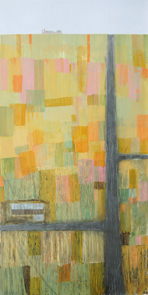 """M-72  IV, acrylic and graphite on panel 48""""x24"""", 2006 (sold)"""