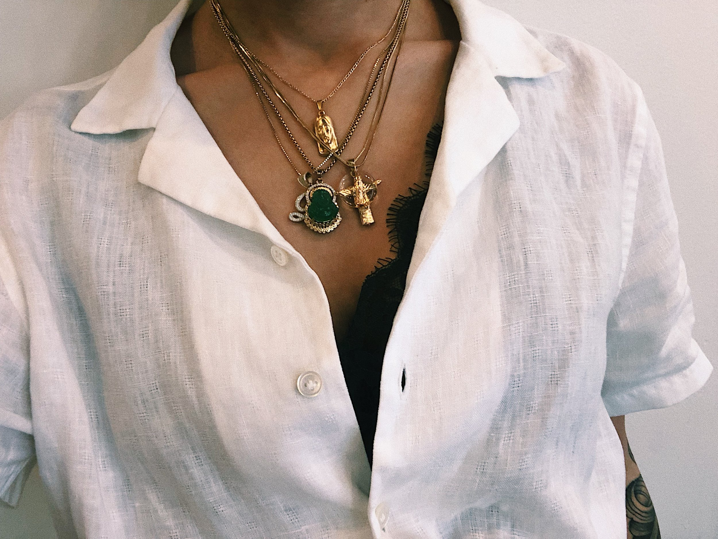 I absolutely LOVE layering my necklaces!