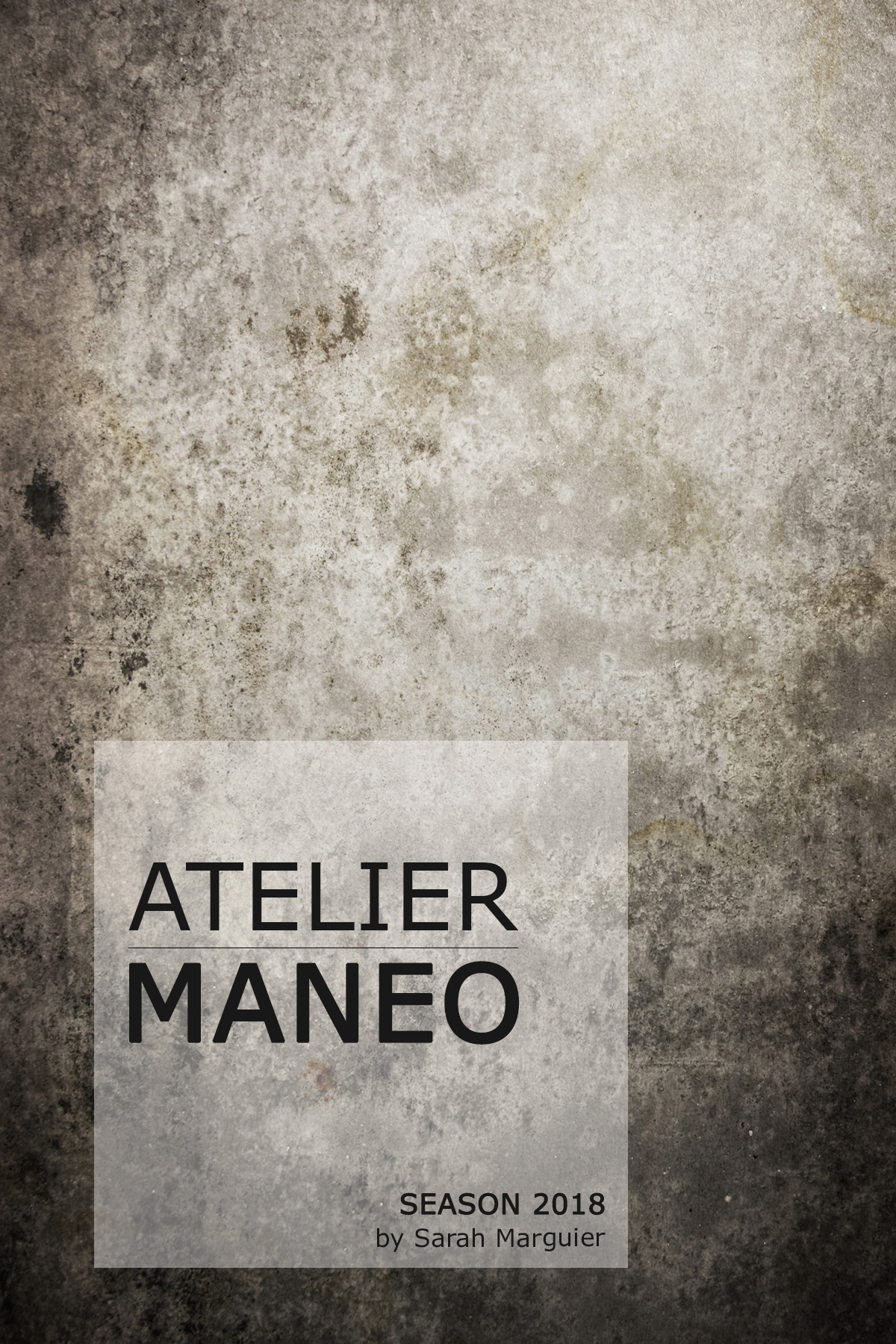 ATELIER MANEO - JULY 6 - SEPTEMBER 15