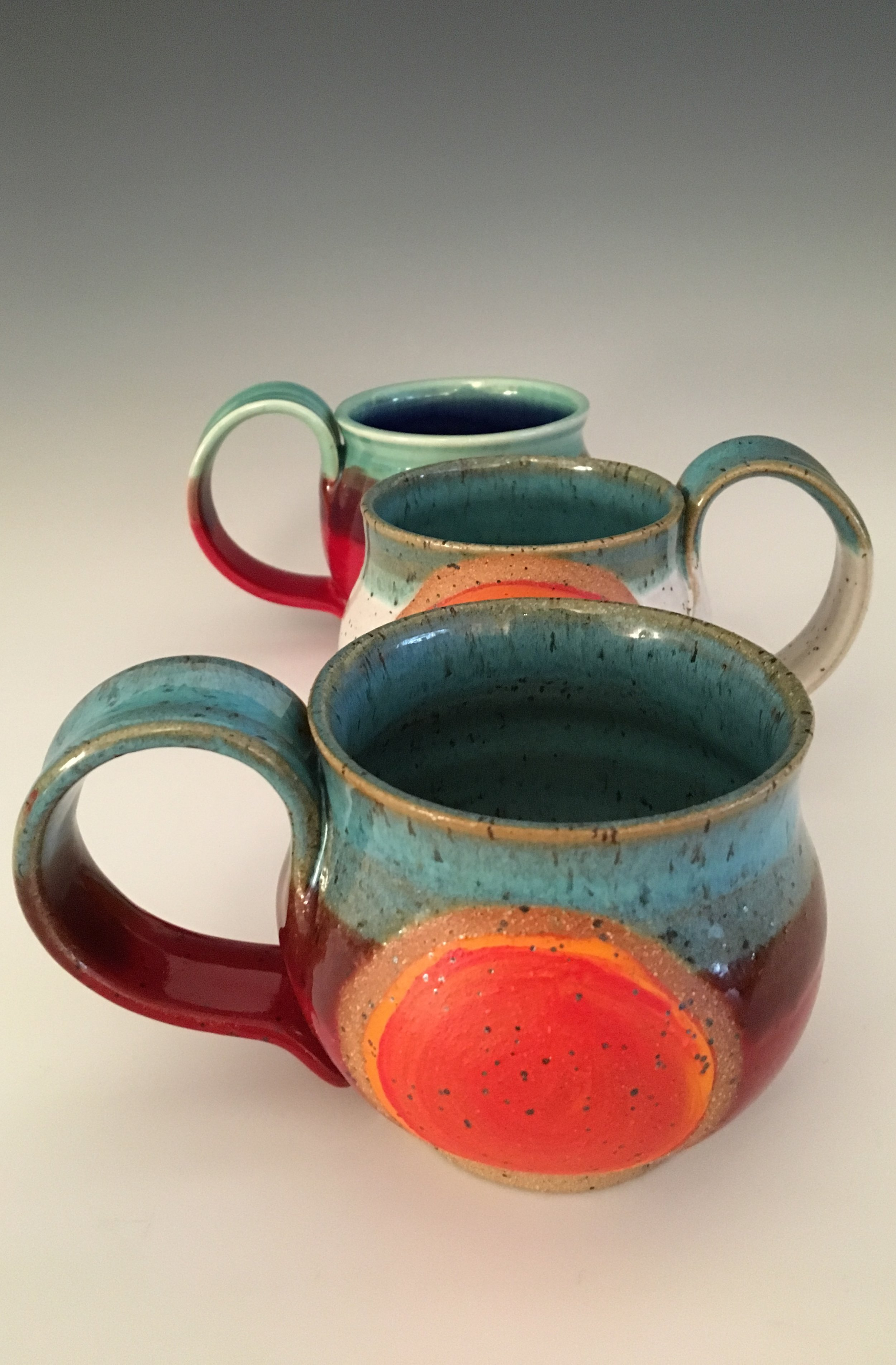 Orange Dot Mugs