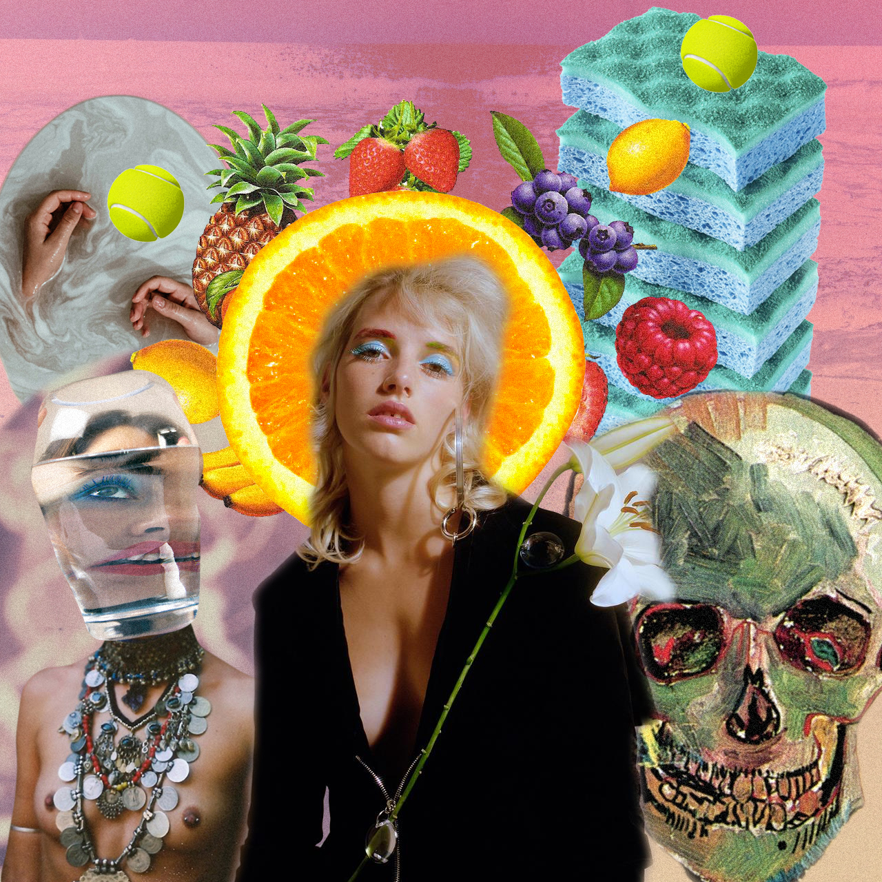 A Pretty Mind [collage, 2016]