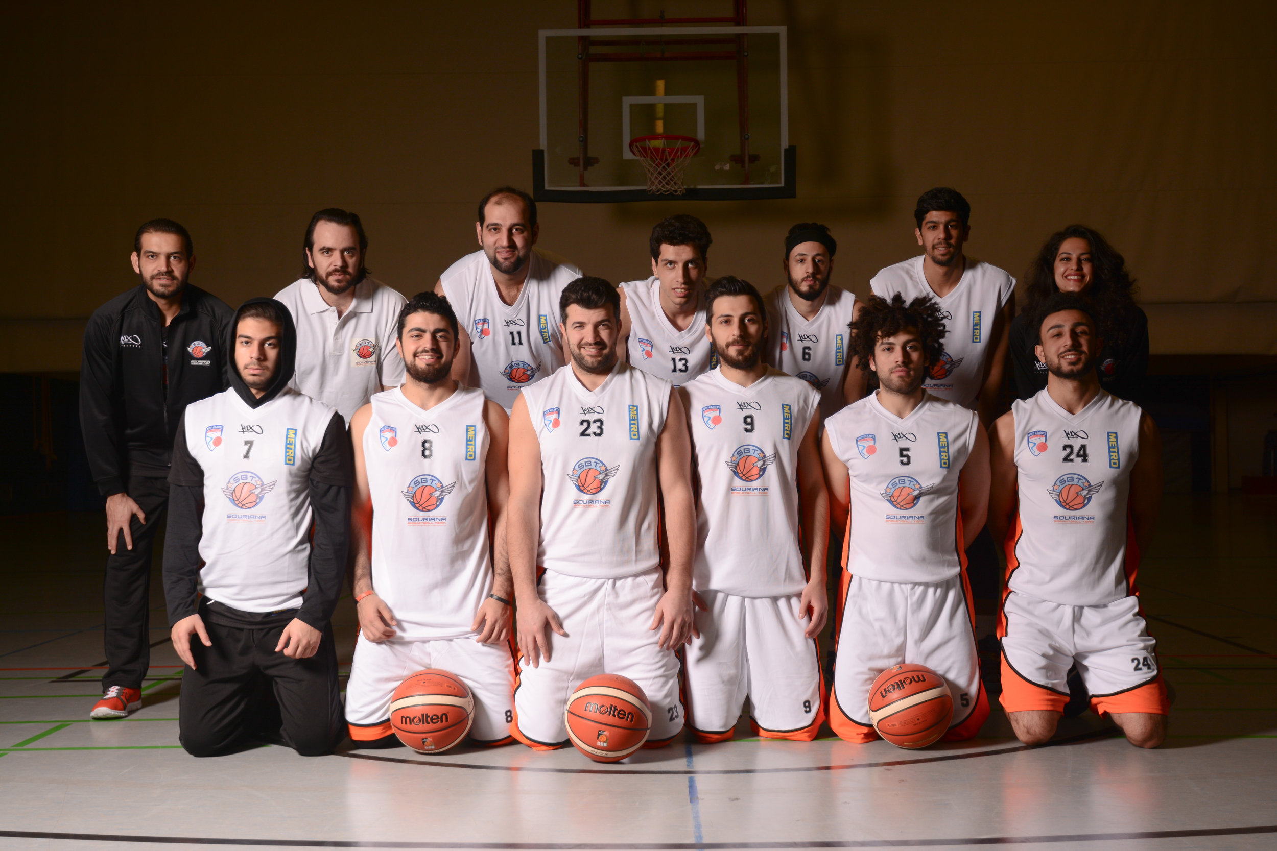 Souriana, a basketball team formed in Düsseldorf, Germany, by an all Syrian team and coach is a project aiming to help build a strong relationship between Germany and Syria. ©Nathan Goldenzweig