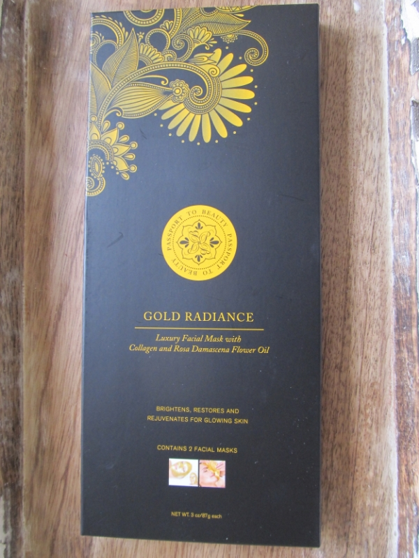 passport to beauty gold radiance facial mask