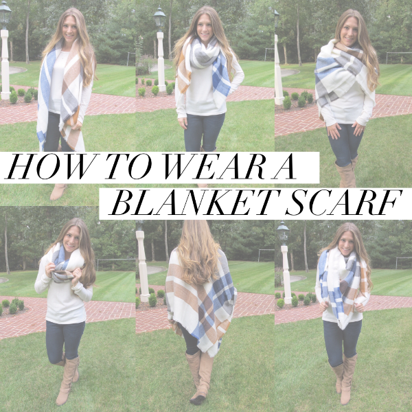 how to wear a blanket scarf