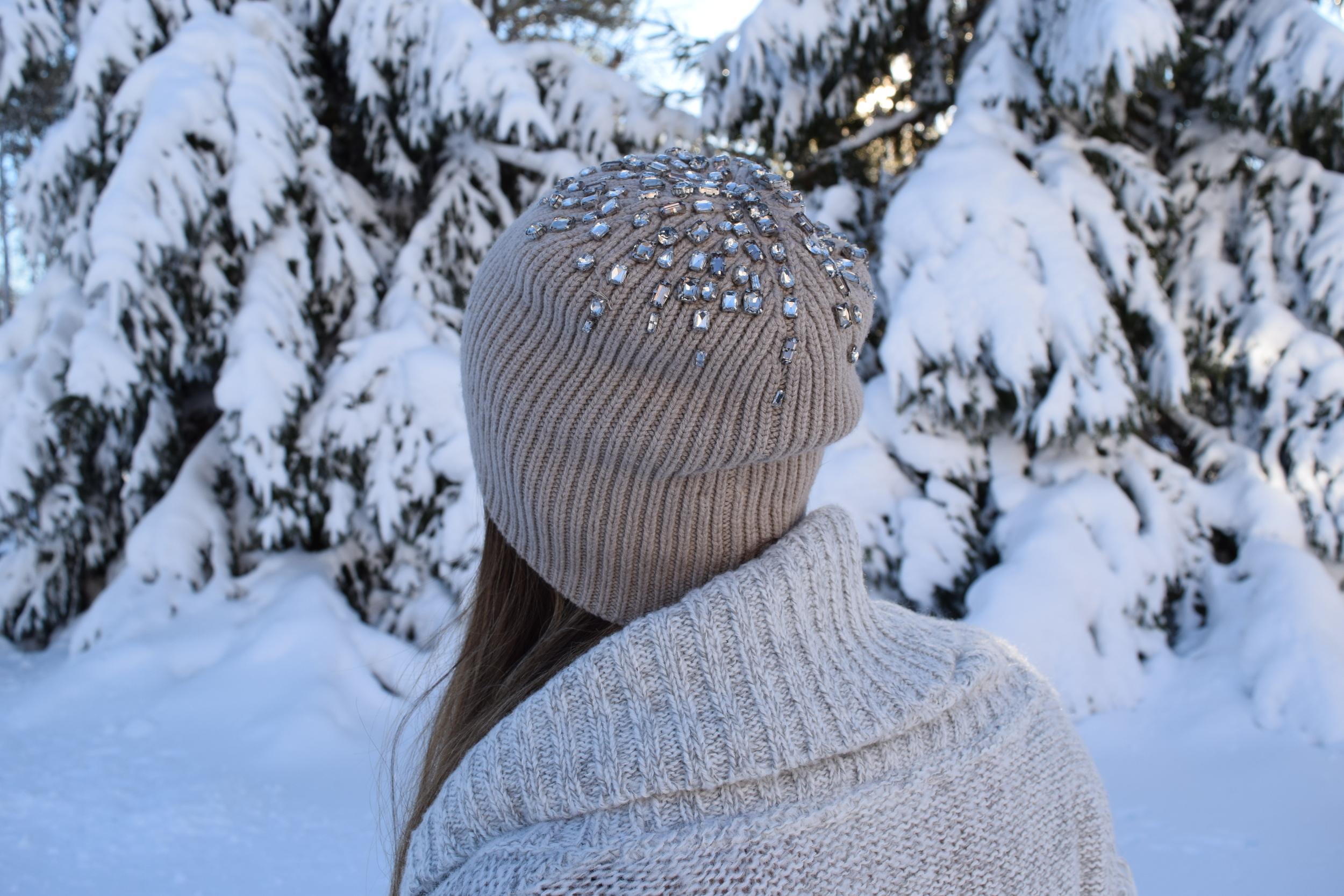 jeweled beanie