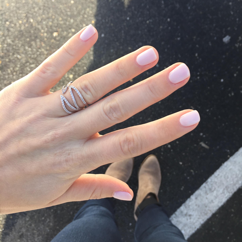 soft white manicure
