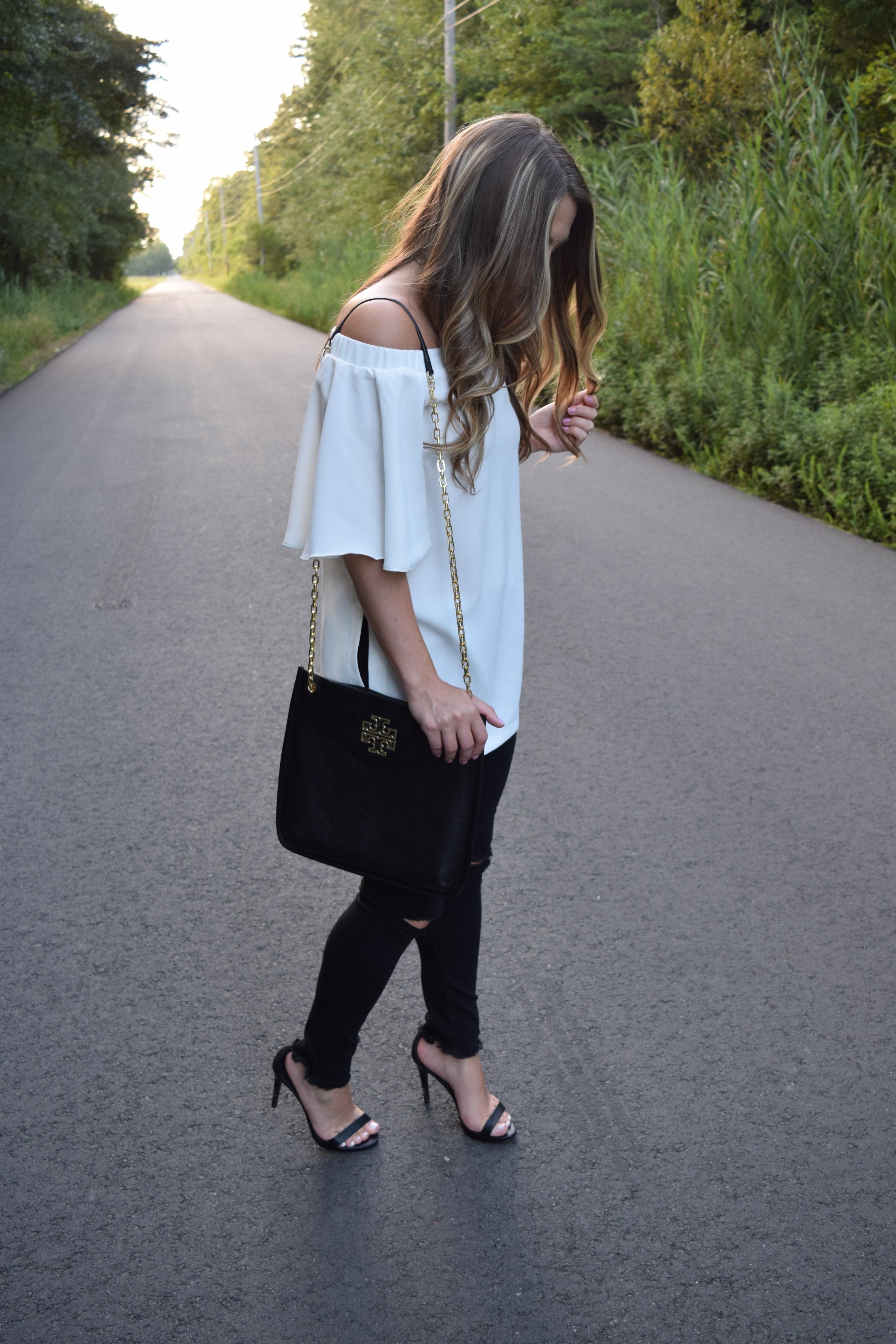 white OTS tunic // pinebarrenbeauty.com