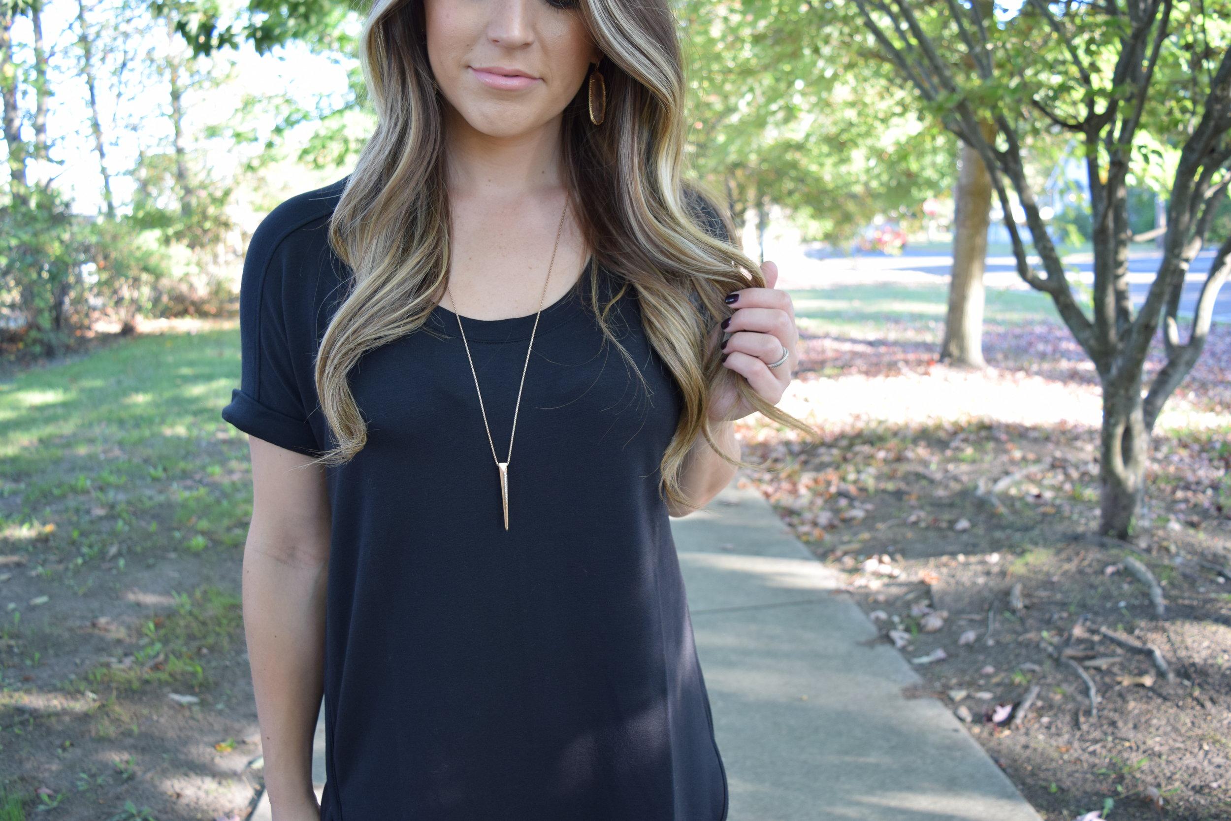 Kendra Scott rose gold jewelry // pinebarrenbeauty.com