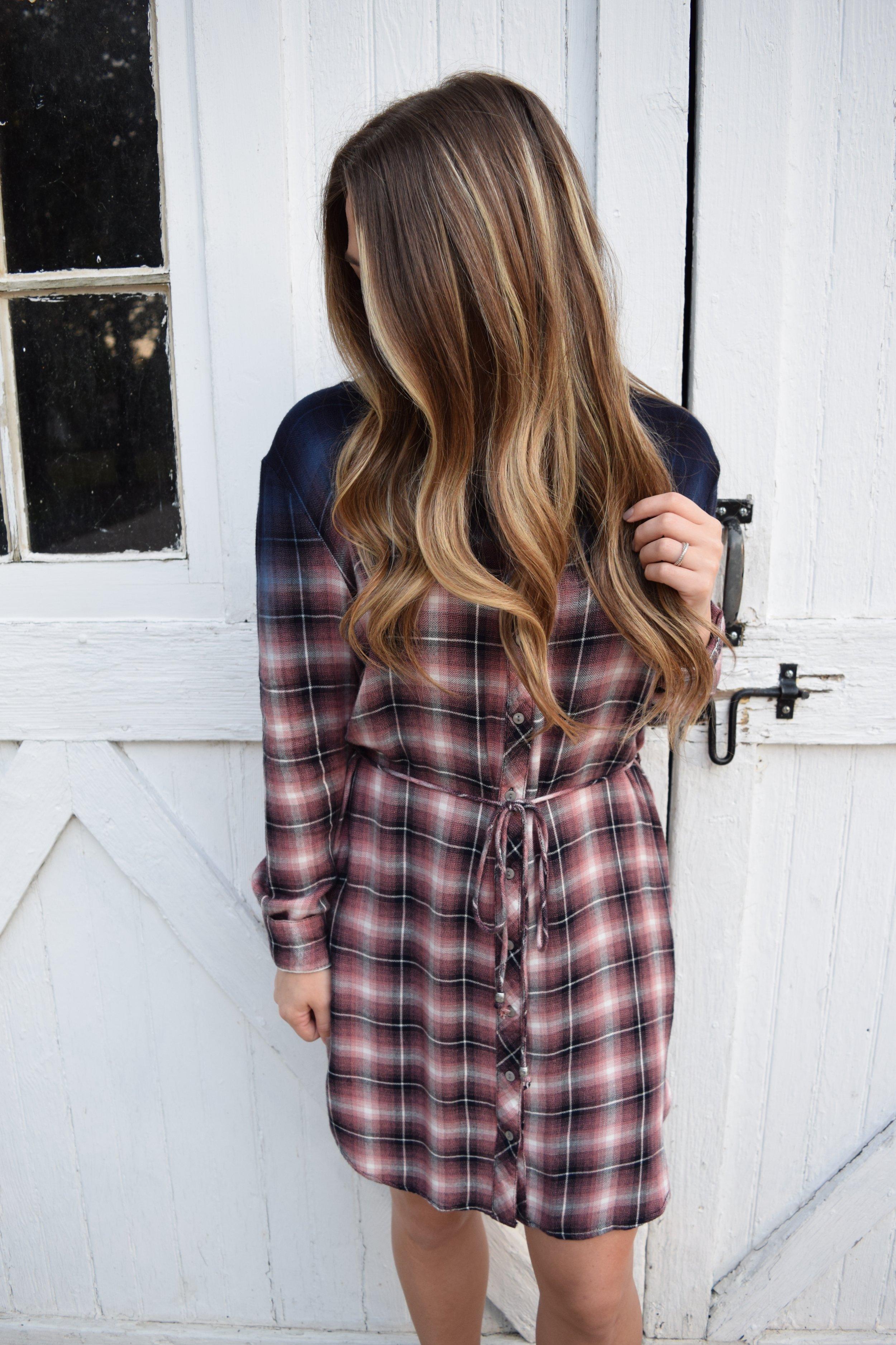 flannel shirt dress // pnebarrenbeauty.com
