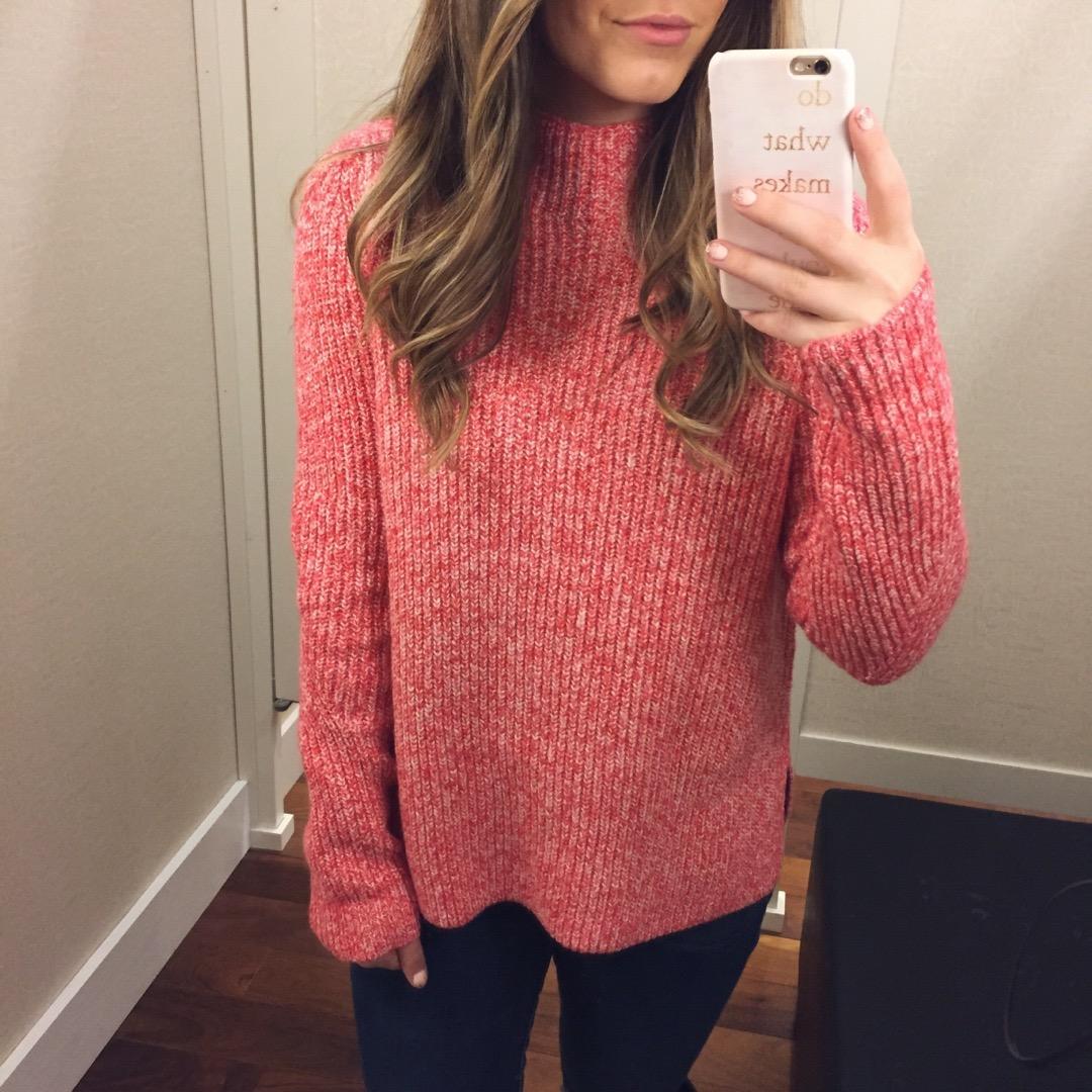 mock neck sweater // pinebarrenbeauty.com