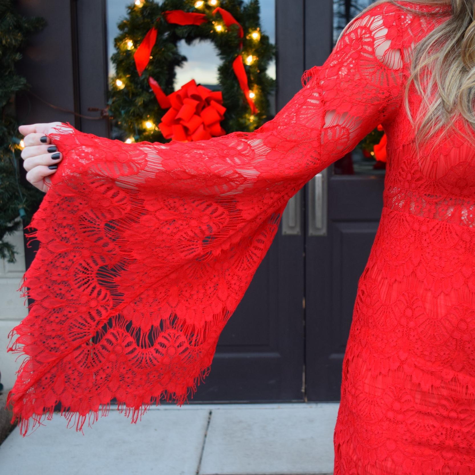 little red dress // pinebarrenbeauty.com