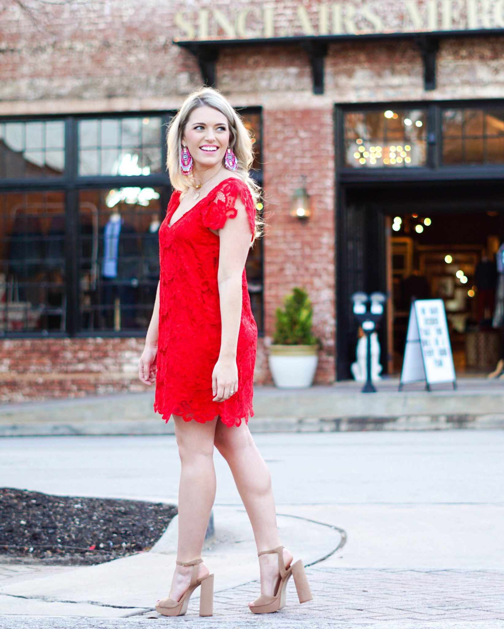 morganbullard.com valentine's day outfit inspiration, little red dress