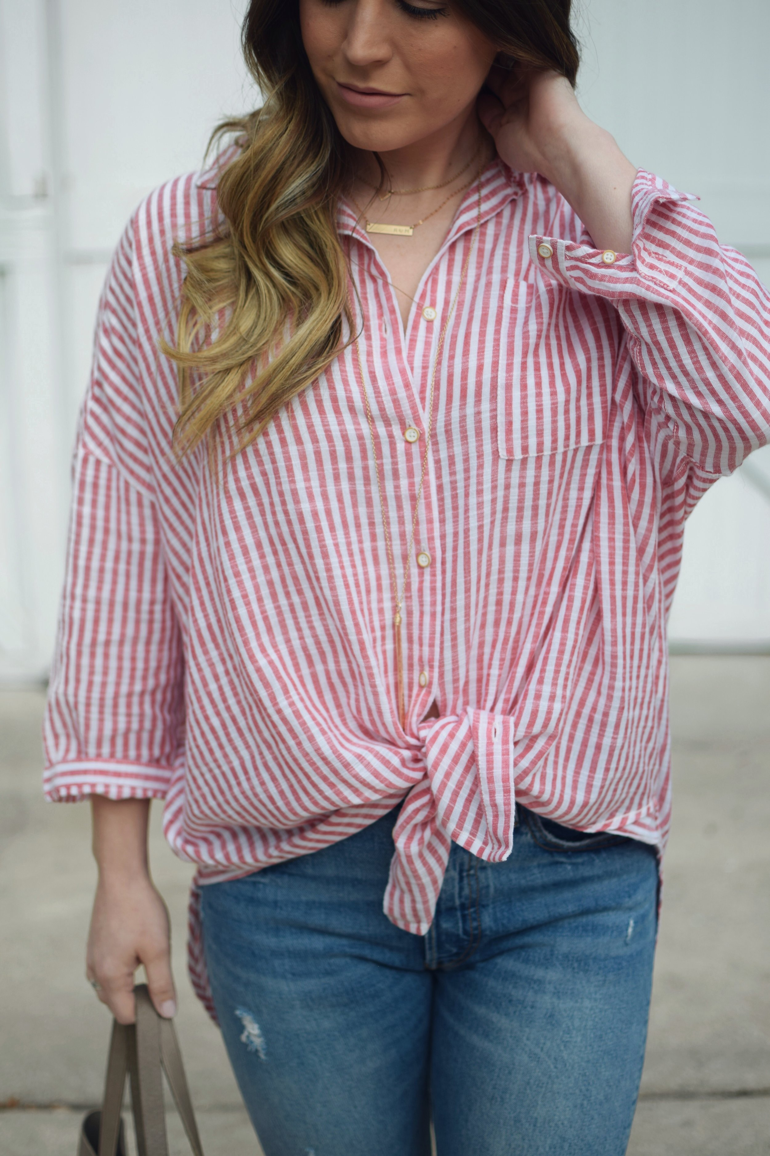 red & white striped top / levi's denim / summer outfit idea