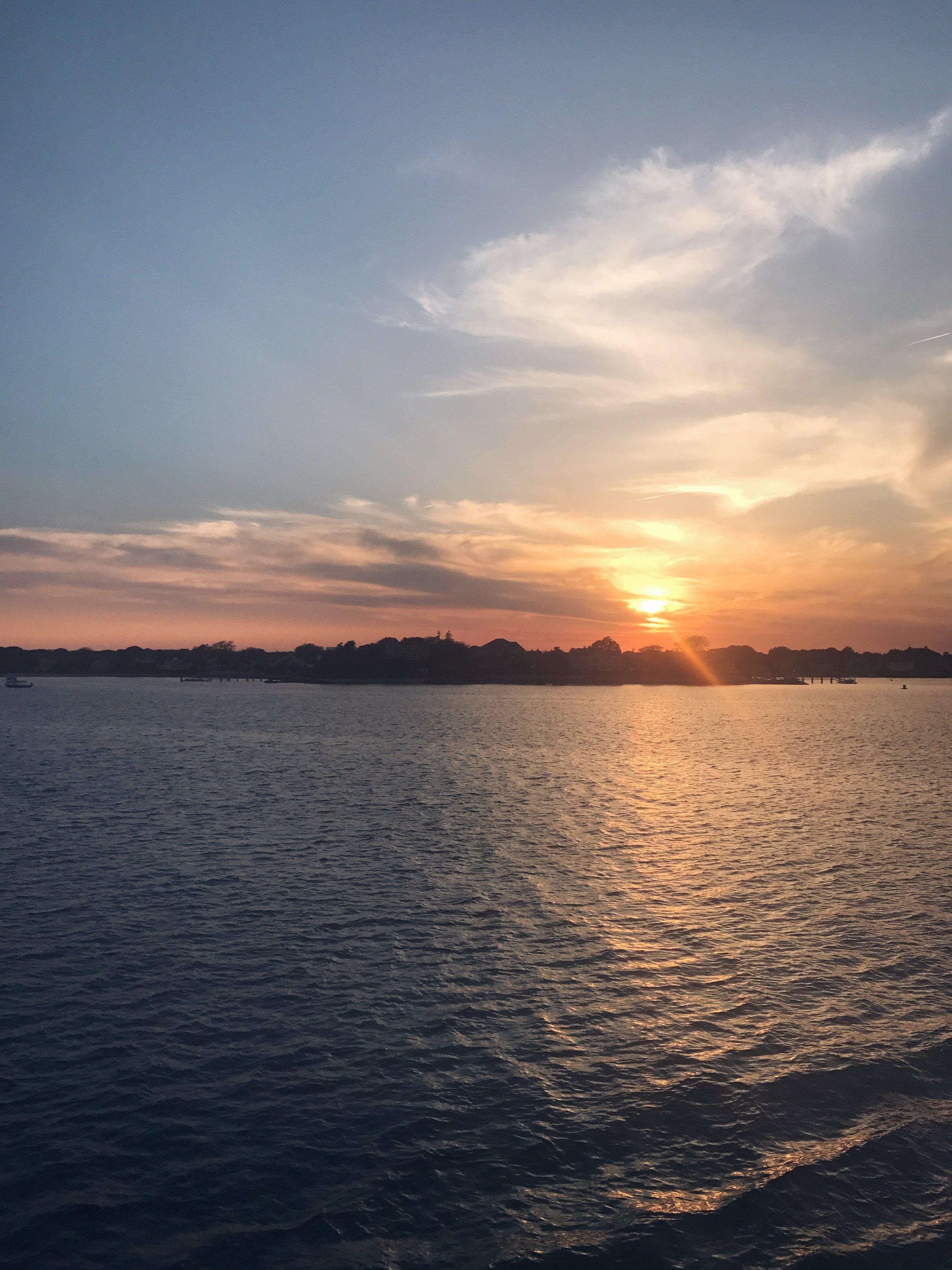 sunset / nantucket travel diary