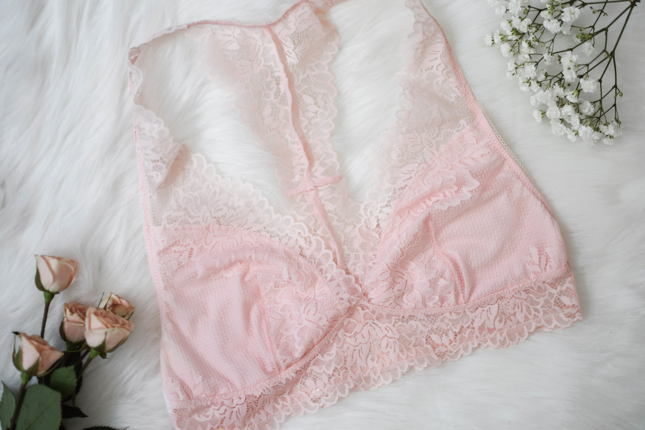 blush lace bralette from kohl's