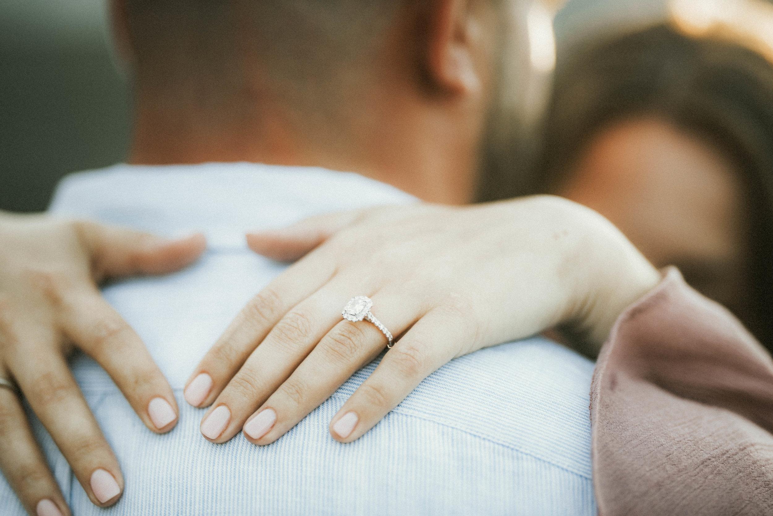 surprise engagement / I said yes / engagement photos  / engagement ring