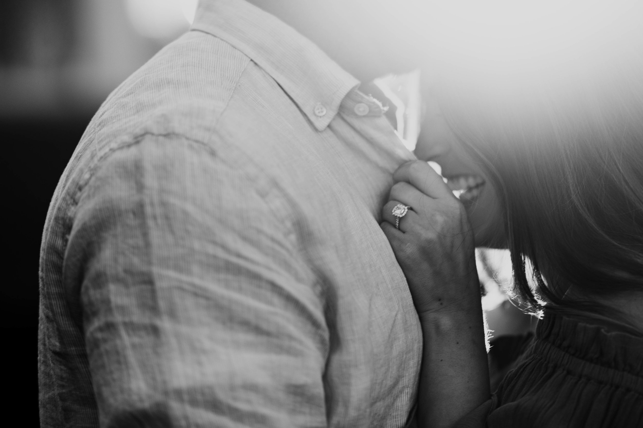 proposal photos / engagement photos / I said yes / henri daussi engagement ring