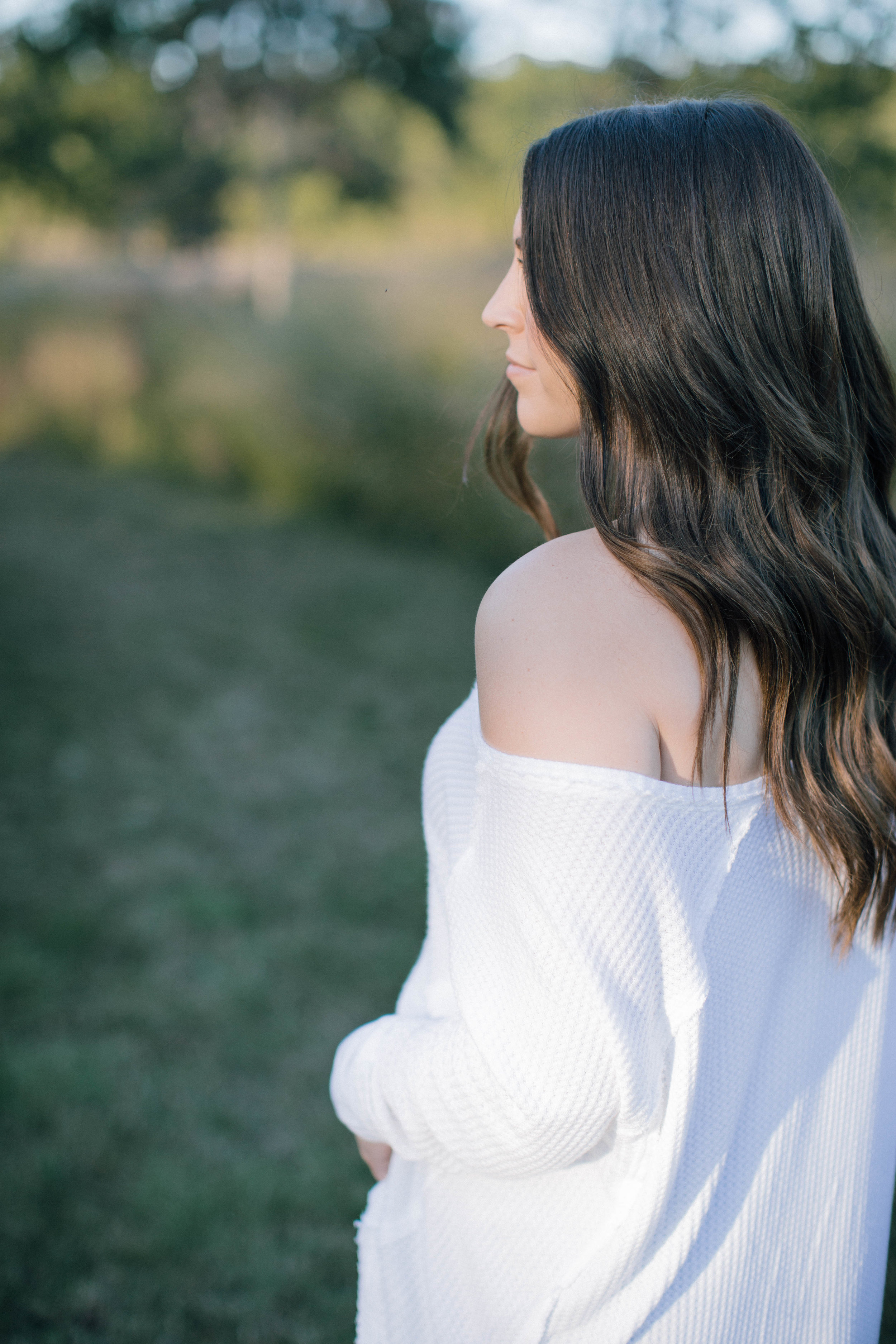fall fashion / fall outfit idea / fall outfit inspiration / free people white thermal / off the shoulder top