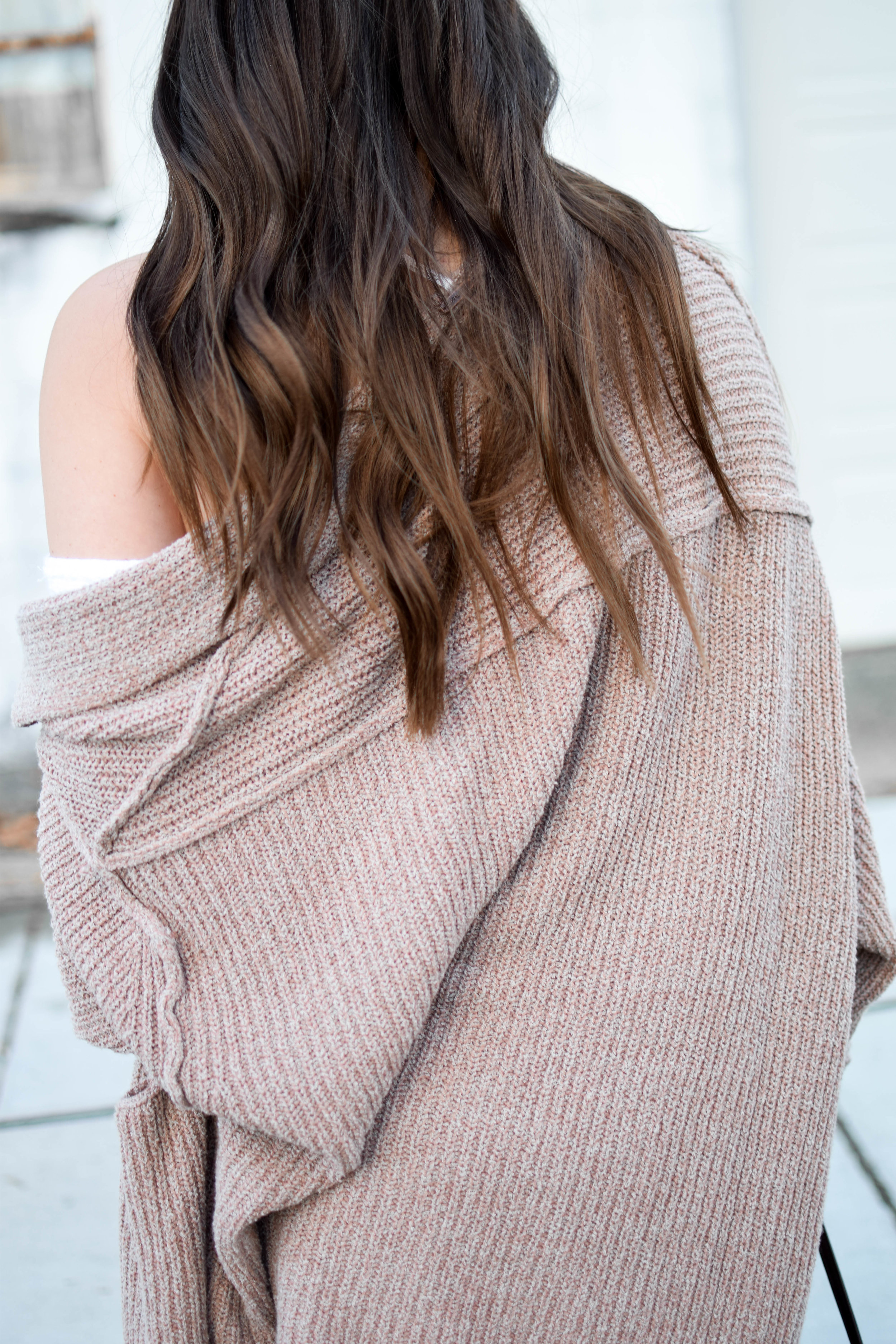 fall fashion / fall outfit idea / fall outfit inspiration / free people thermal / free people cardigan / sweater weather / hair goals / dark hair for fall / fall feels / fall vibes