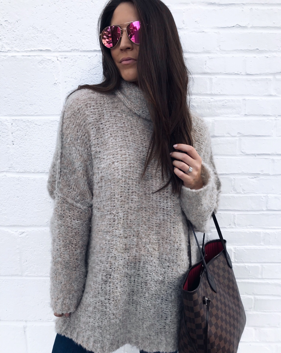 fall outfit idea, fall fashion, fall outfit inspiration, free people sweater, cozy sweater, diff eyewear
