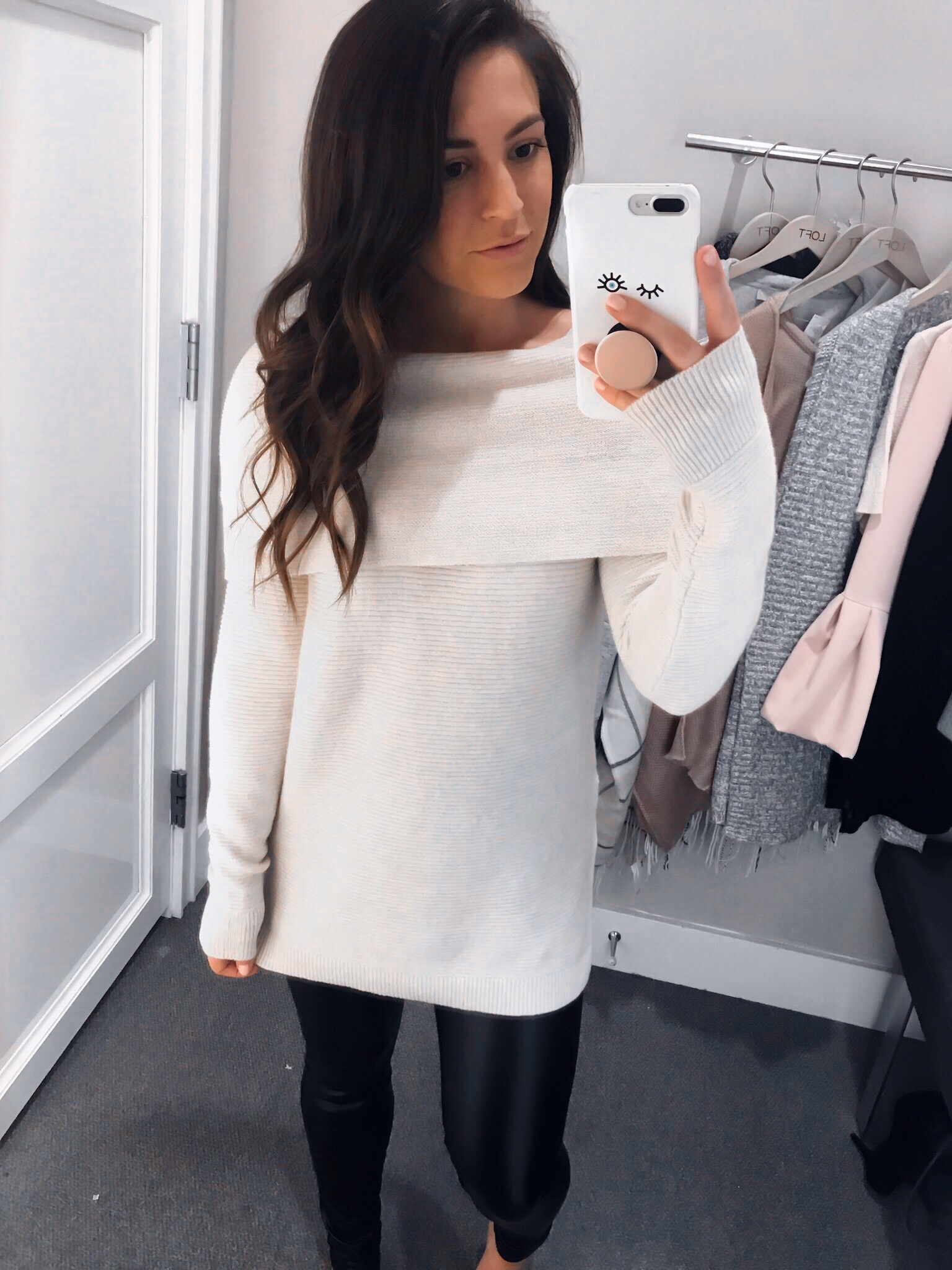 My Outfits On Sale | Pine Barren Beauty | off the shoulder sweater, Black Friday sales, winter outfit idea
