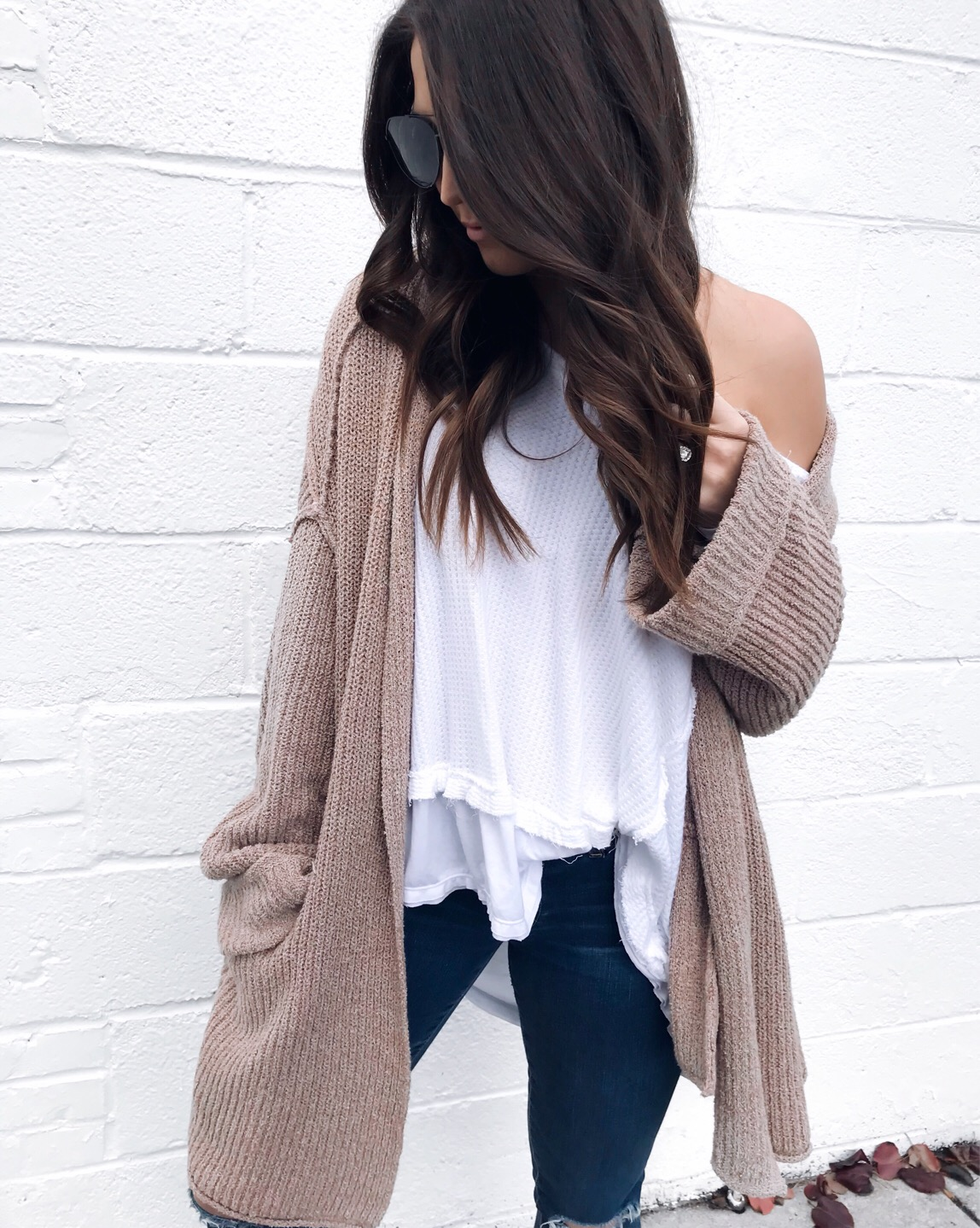 My Outfits On Sale | Pine Barren Beauty | free people outfit idea, fall outfit idea, winter outfit idea, cozy cardigan, Black Friday sales