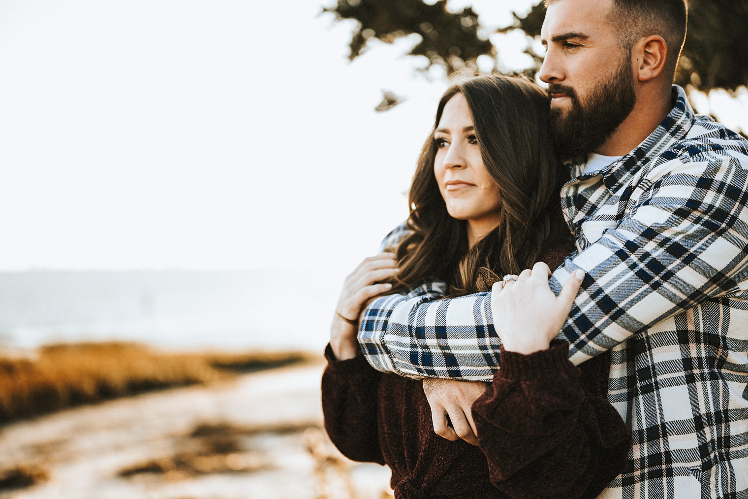 Our Engagement Photos | Pine Barren Beauty | engagement photo ideas, engagement photo inspiration, what to wear for fall engagement photos, wedding inspiration, couple goals